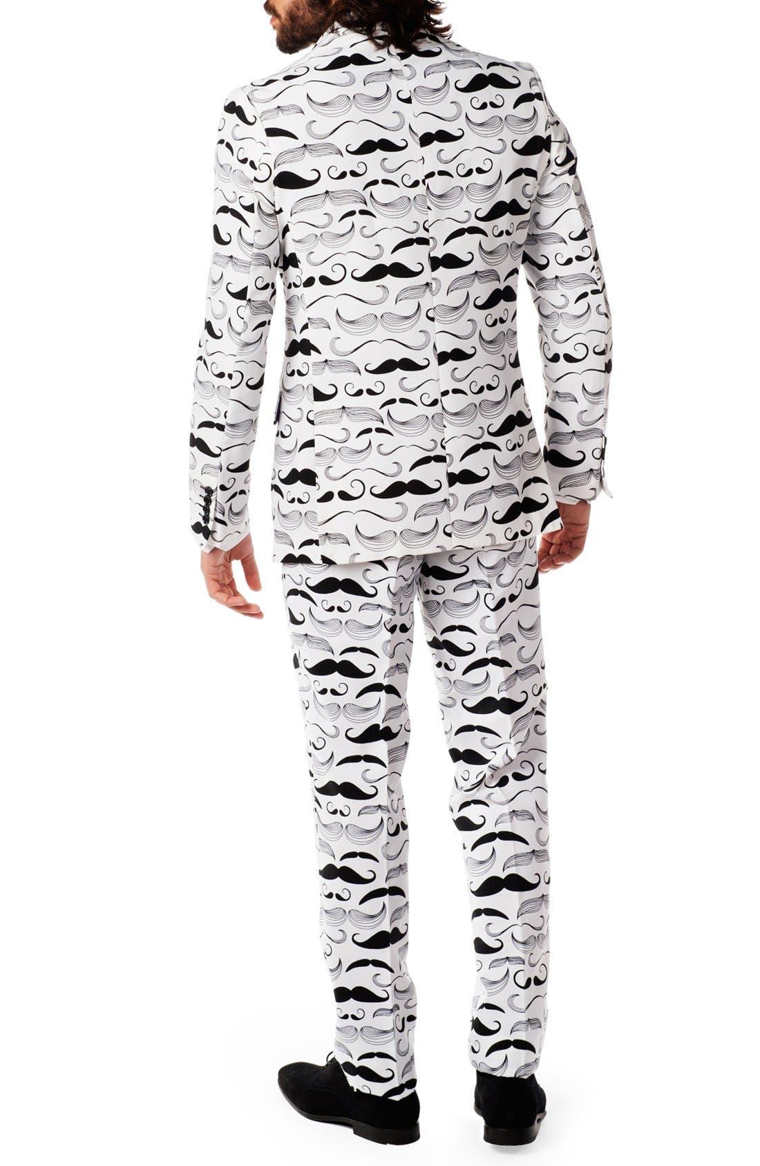 'Tashtastic' Trim Fit Two-Piece Suit with Tie,                             Alternate thumbnail 2, color,                             White