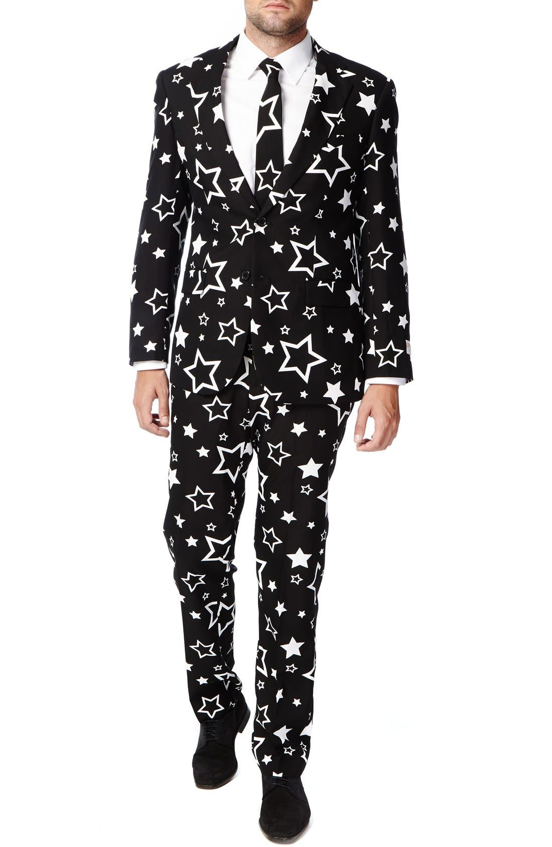 Alternate Image 4  - OppoSuits 'Starring' Trim Fit Two-Piece Suit with Tie