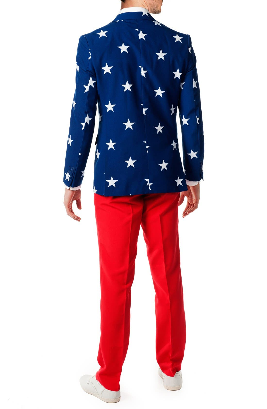 Alternate Image 2  - OppoSuits 'Stars & Stripes' Trim Fit Suit with Tie