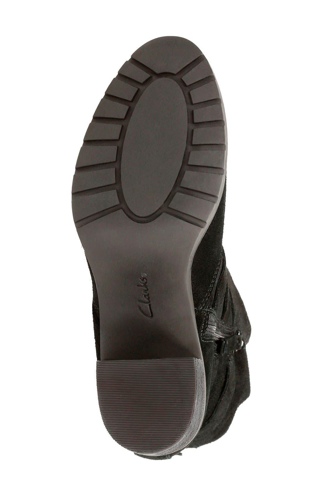 'Malvet Doris' Moto Boot,                             Alternate thumbnail 4, color,                             Black Suede