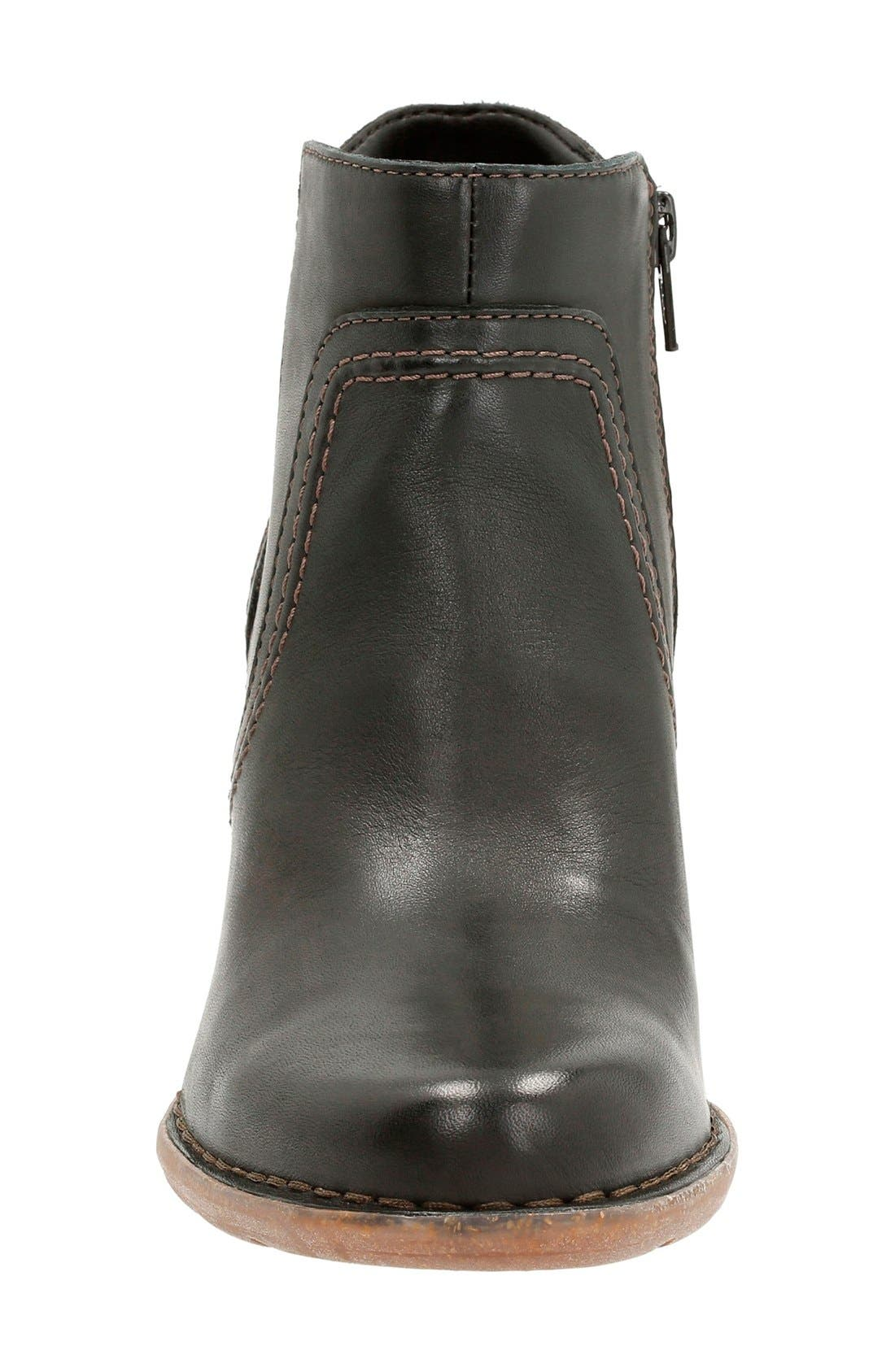 'Carleta Paris' Ankle Boot,                             Alternate thumbnail 3, color,                             Black Leather
