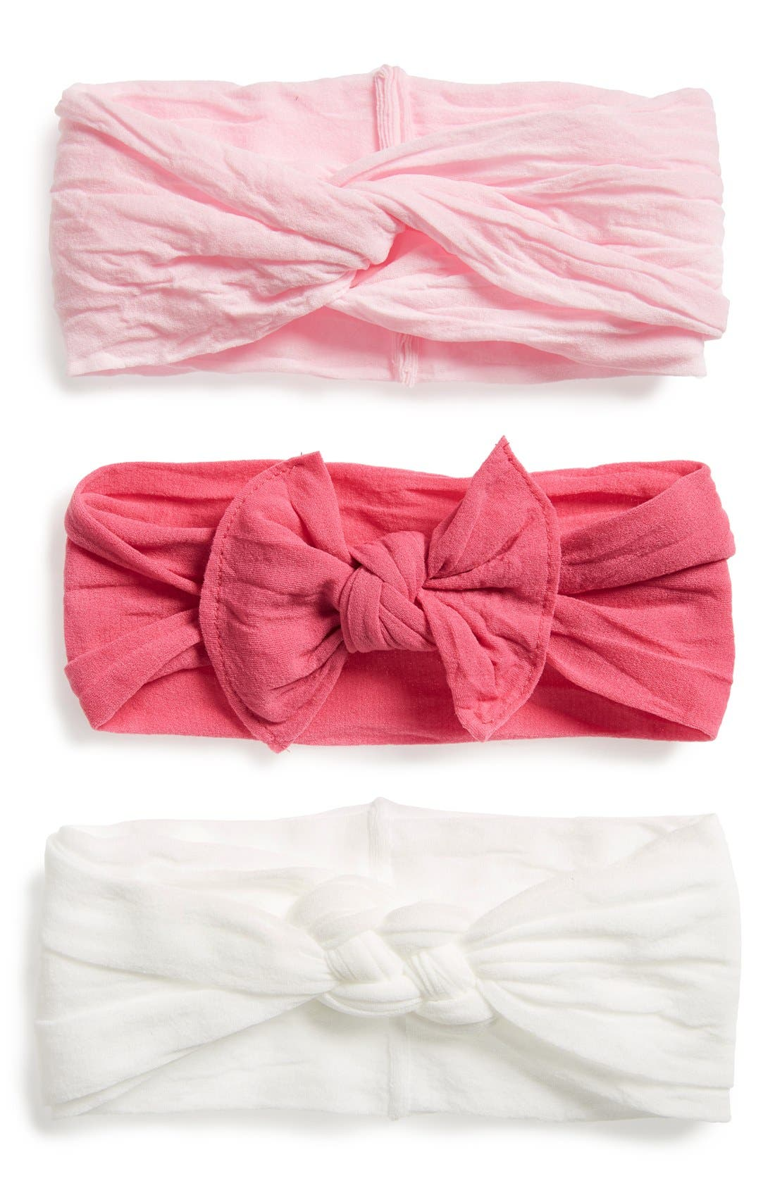 Alternate Image 2  - Baby Bling Knot Headbands (Baby Girls) (Set of 3)