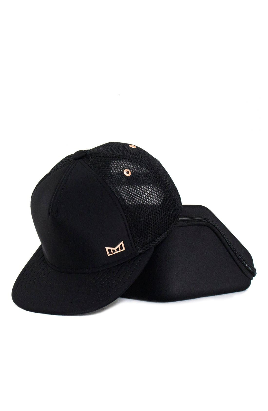 'The Majesty' Mesh Back Snapback Hat,                             Alternate thumbnail 6, color,                             Black