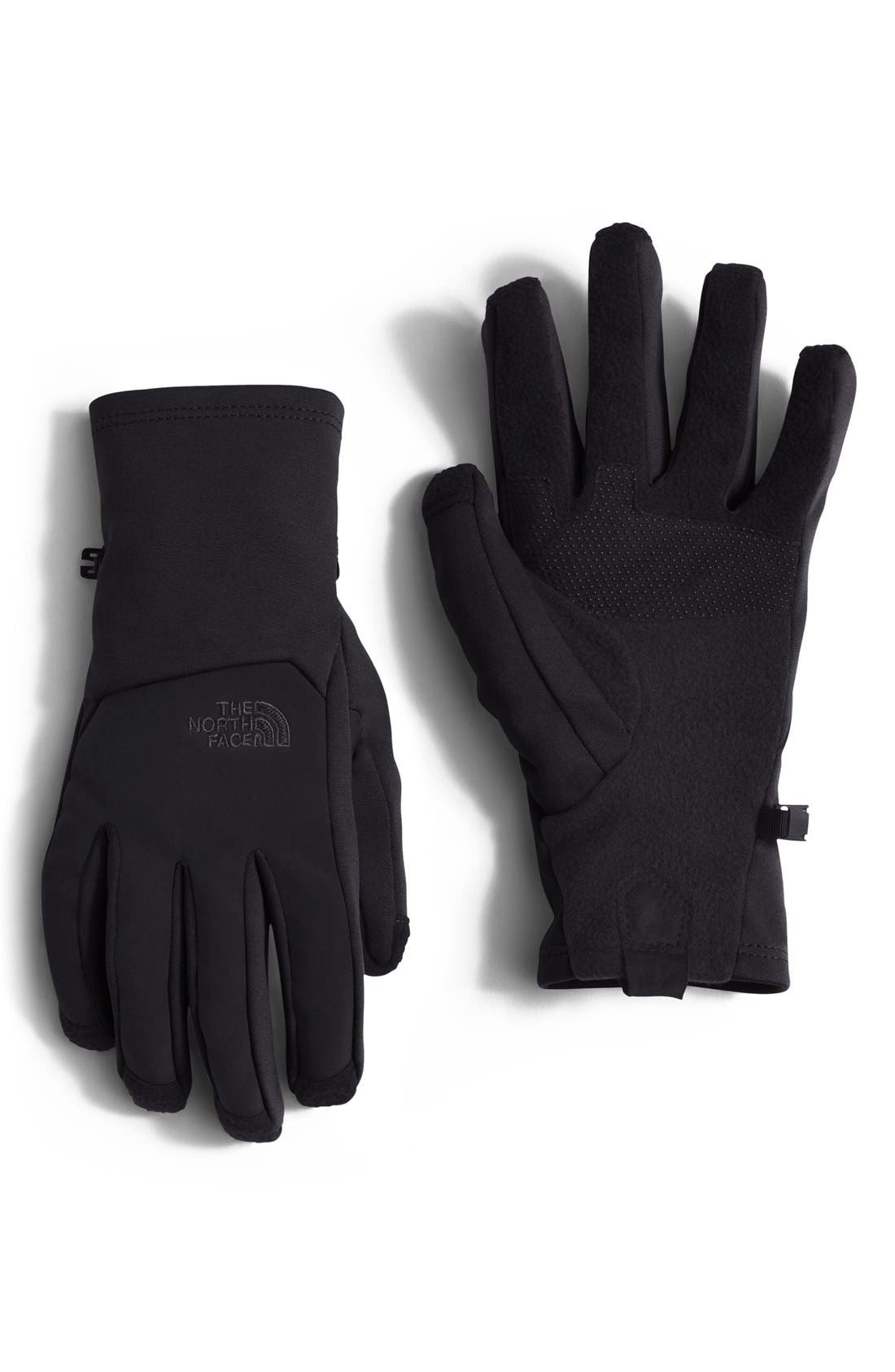 'CanyonWall E-Tip' Tech Gloves,                             Main thumbnail 1, color,                             North Face Black