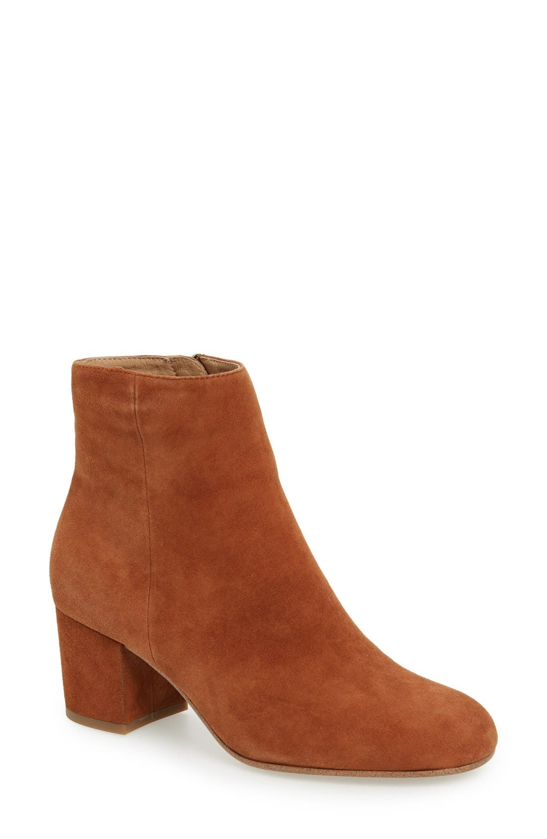 Alternate Image 1 Selected - Halogen® 'Cori' Round Toe Bootie (Women)