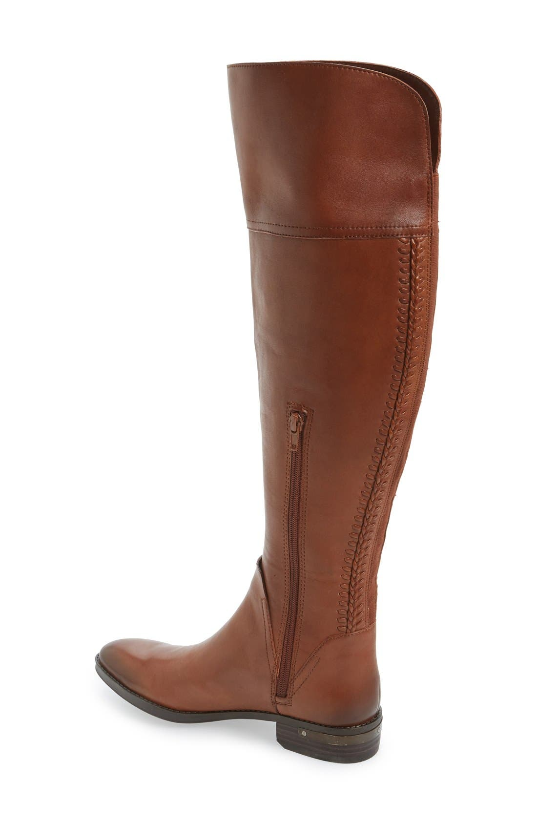 'Pedra' Over the Knee Boot,                             Alternate thumbnail 2, color,                             Gingerbread Leather
