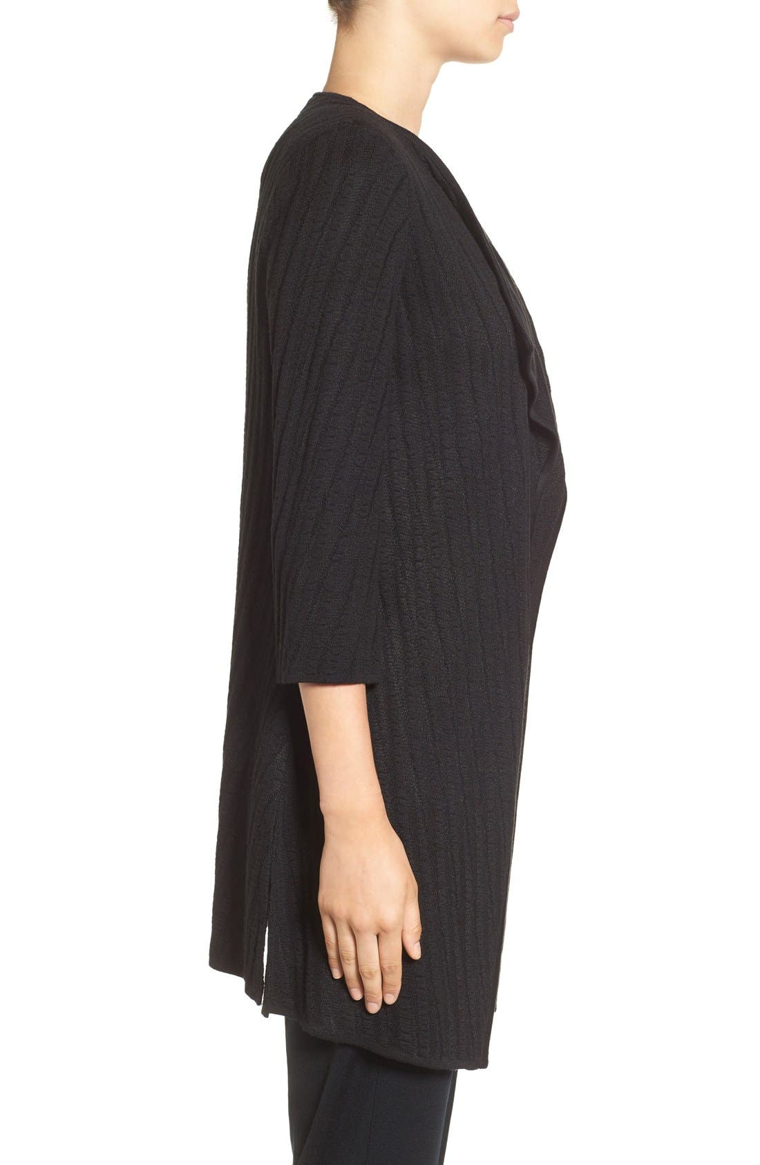 Alternate Image 3  - Ming Wang Drape Front Long Sweater Jacket