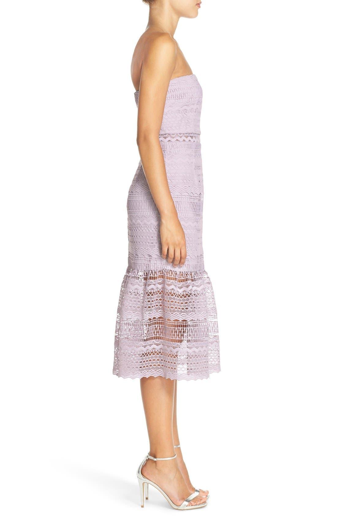 Alternate Image 3  - Bardot 'Lily' Strapless Lace Midi Dress