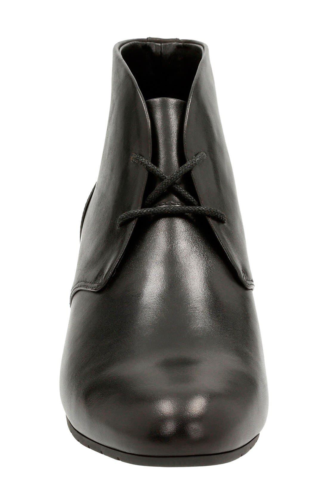 'Vendra Peak' Wedge Boot,                             Alternate thumbnail 3, color,                             Black Leather