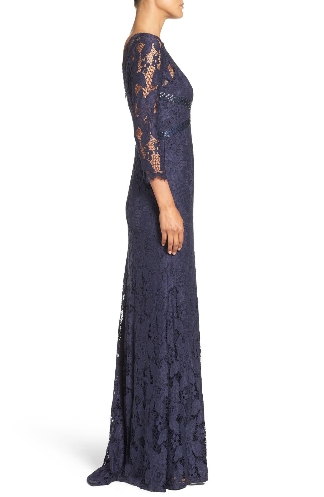 Alternate Image 3  - Adrianna Papell Illusion Yoke Lace Gown