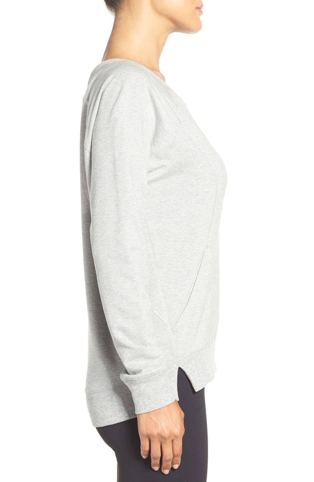 Alternate Image 3  - Zella 'Luxesport' Long Sleeve Sweatshirt