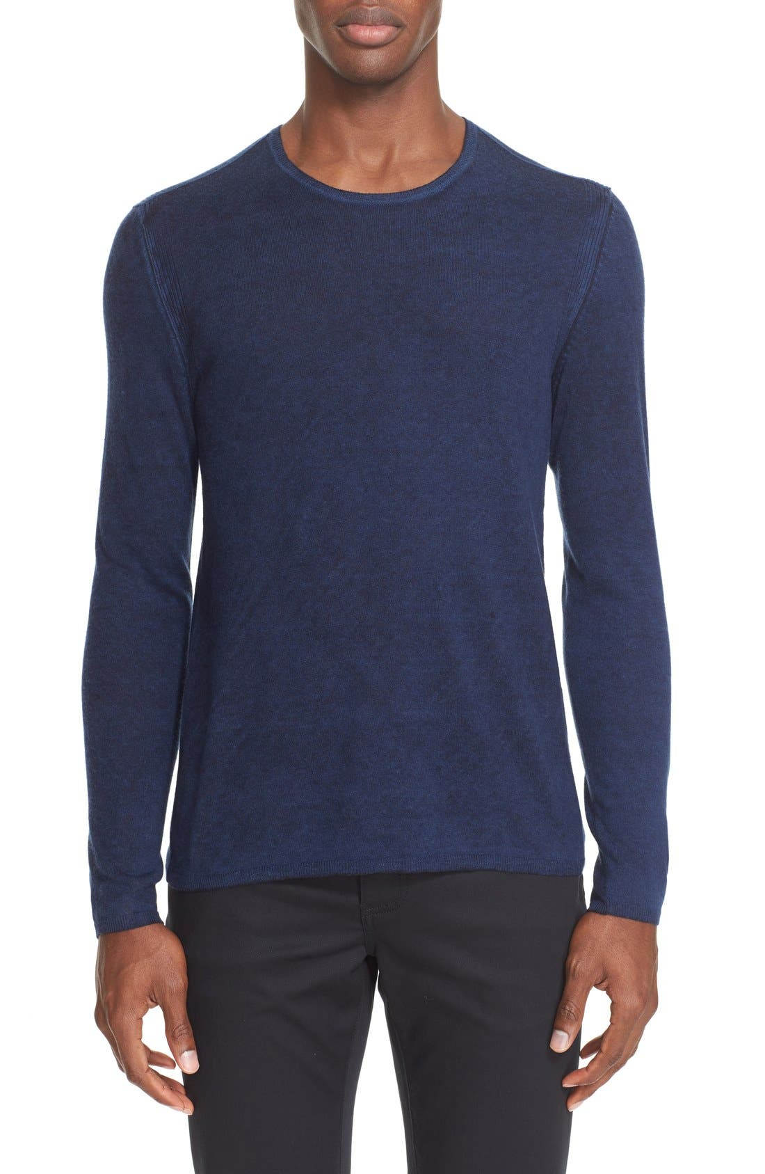 Collection Silk & Cashmere Sweater,                             Main thumbnail 1, color,                             Navy