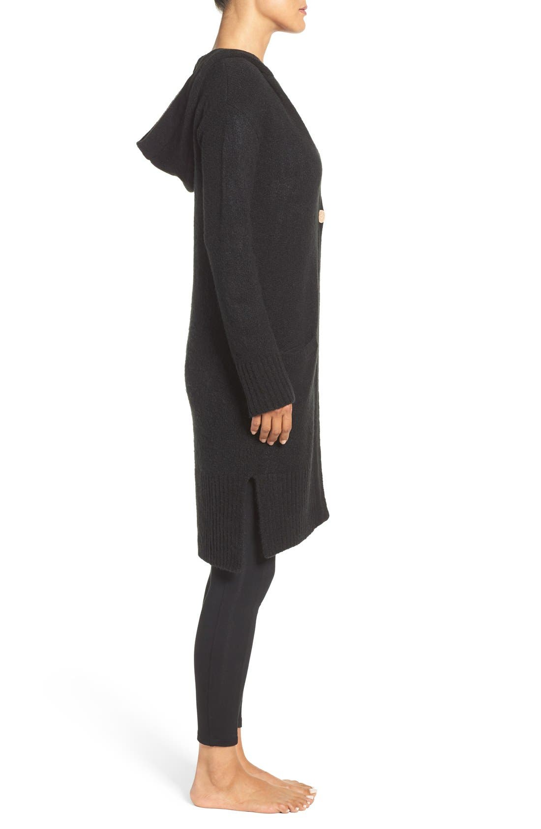 Alternate Image 3  - UGG® 'Judith' Hooded Knit Cardigan