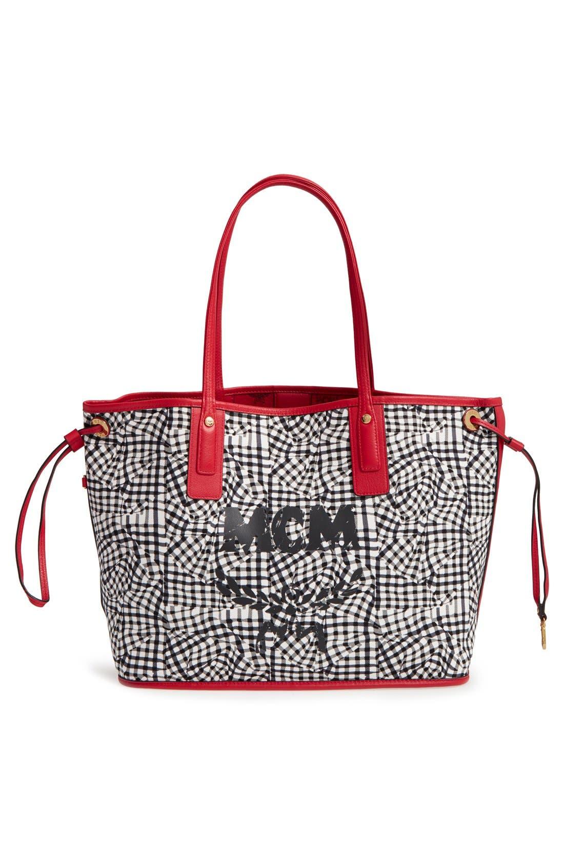 Mcm Ruby Red Shopper Project Visetos Liz Reversible Medium