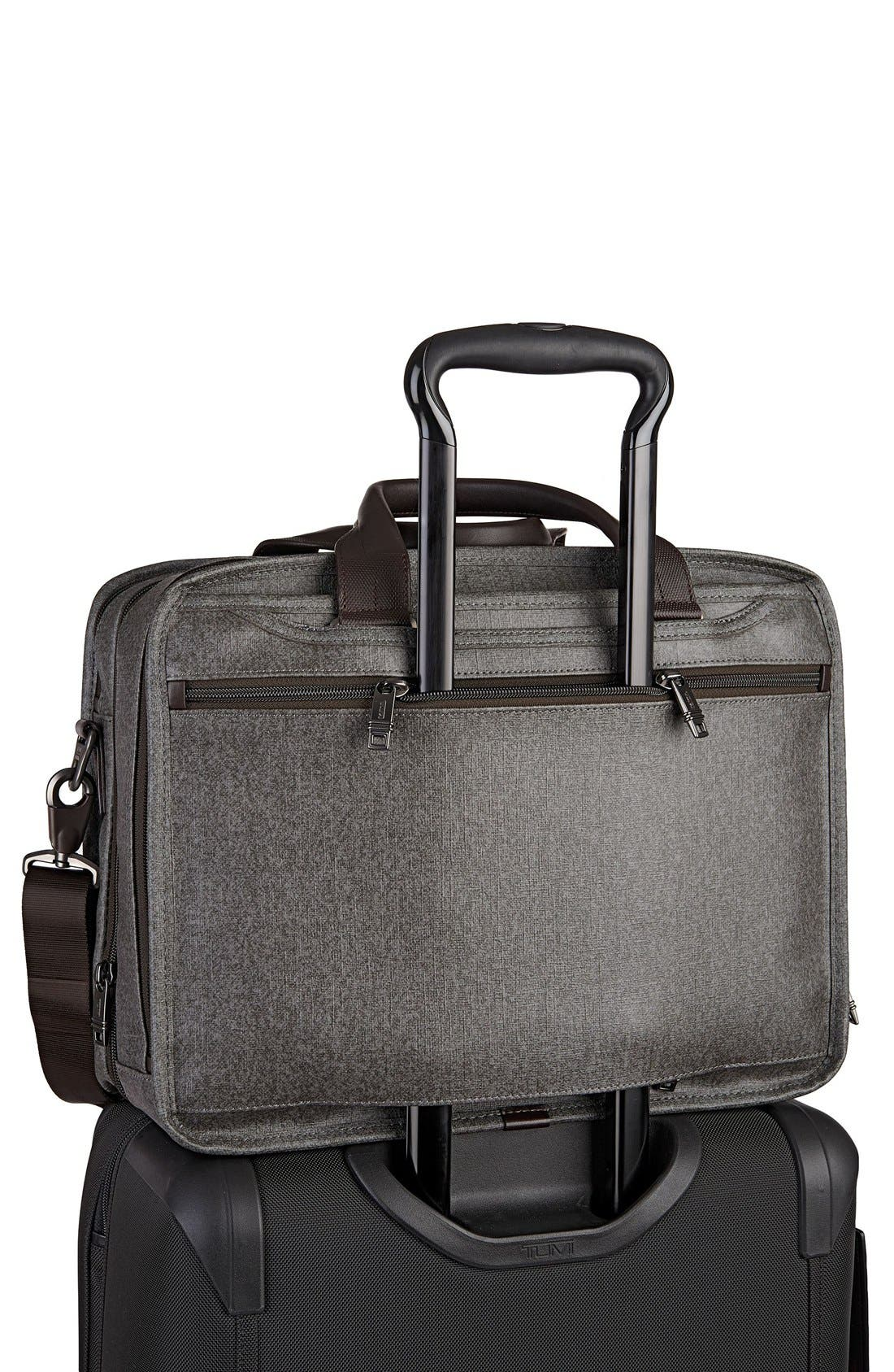 'Alpha 2' Expandable Briefcase,                             Alternate thumbnail 3, color,                             Earl Grey