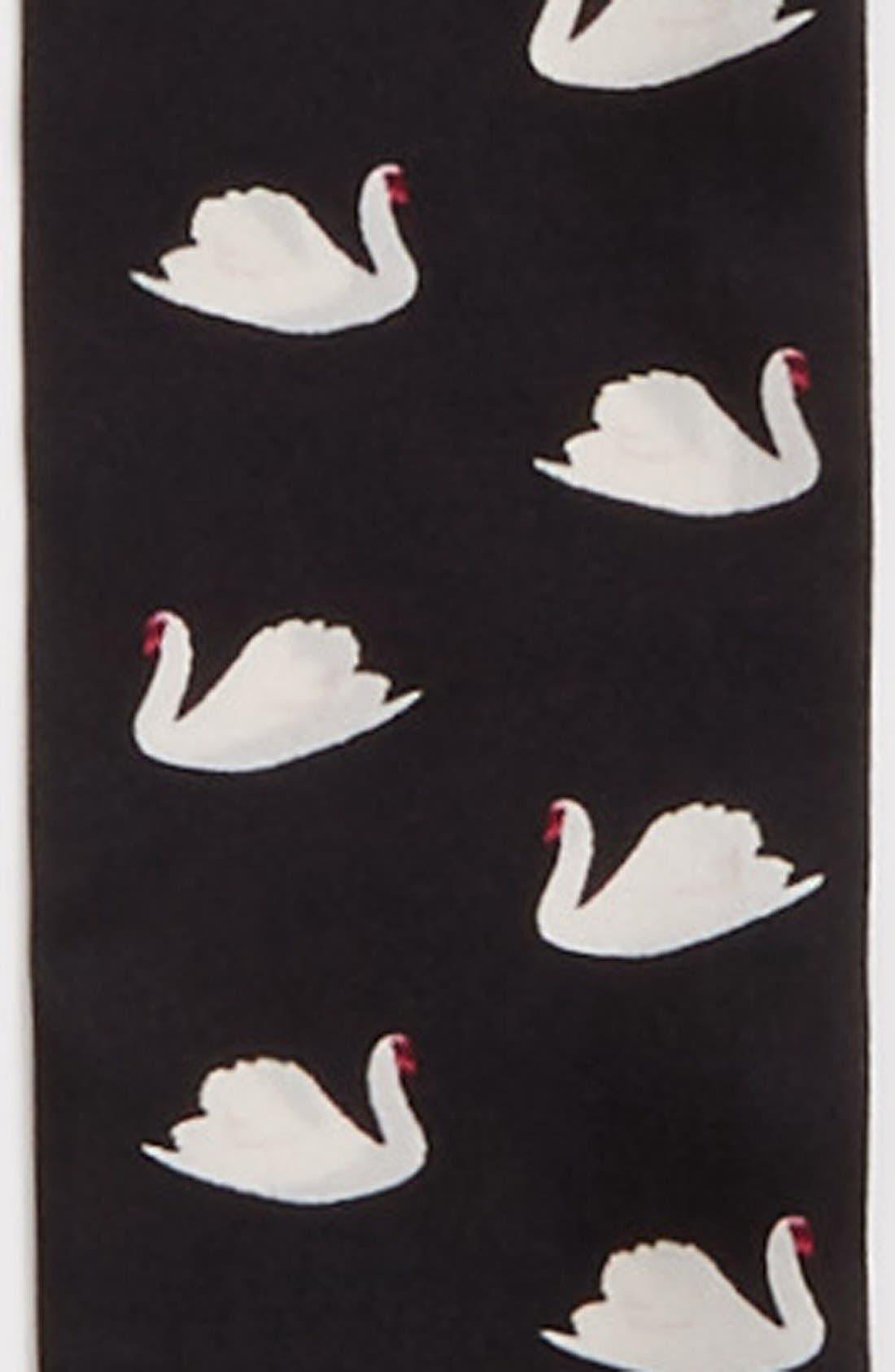 Alternate Image 3  - kate spade new york 'swans' skinny silk scarf
