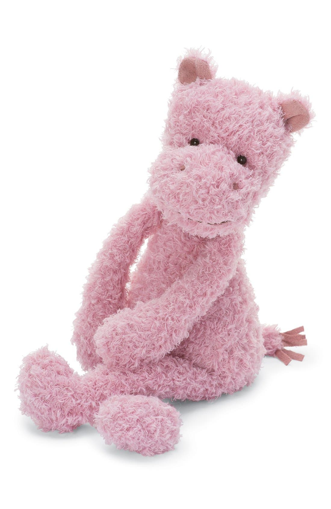 'Wild Thing Hippo' Stuffed Animal,                         Main,                         color, Pink