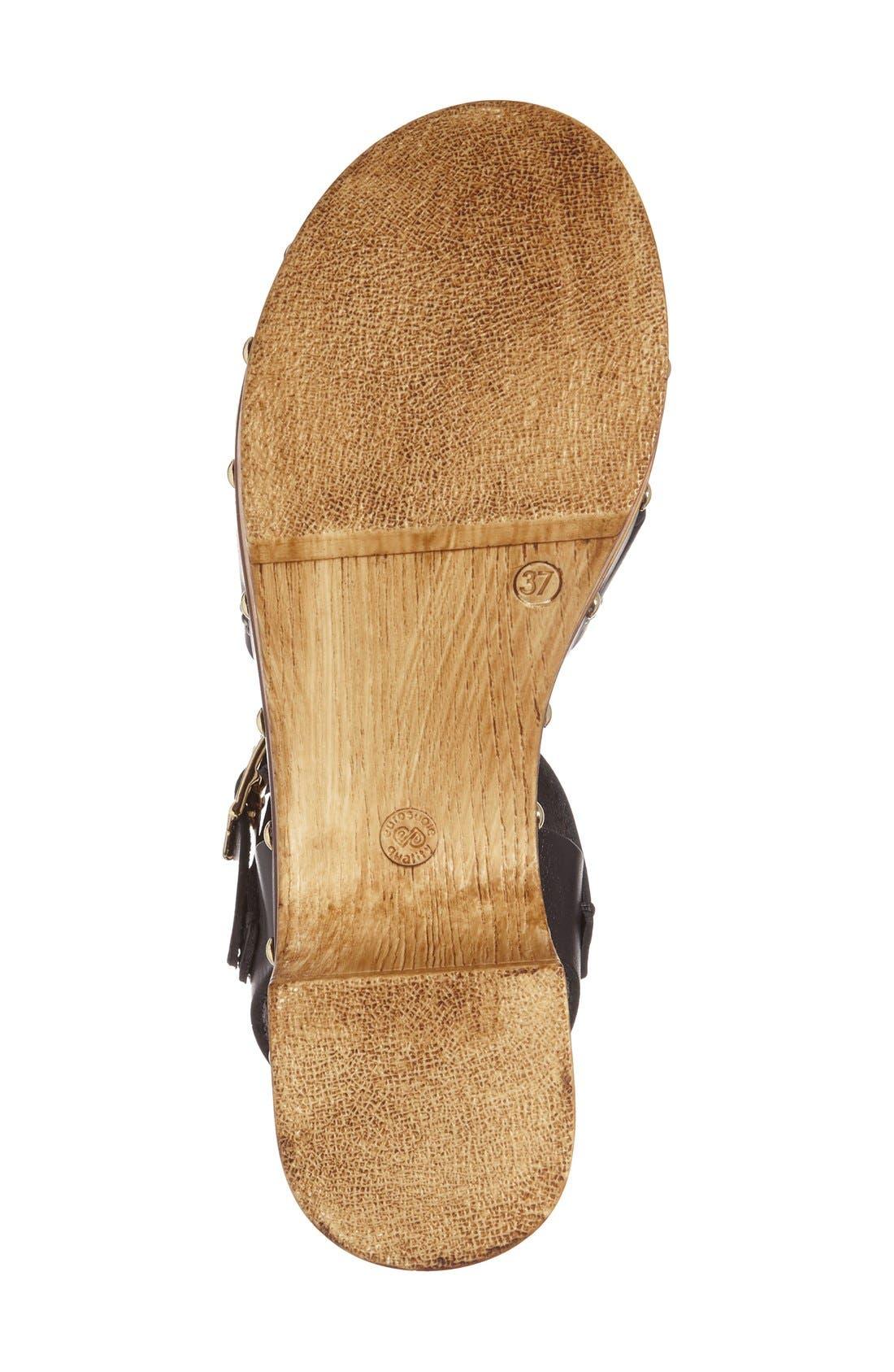 'VIV' Clog Sandals,                             Alternate thumbnail 4, color,                             Black