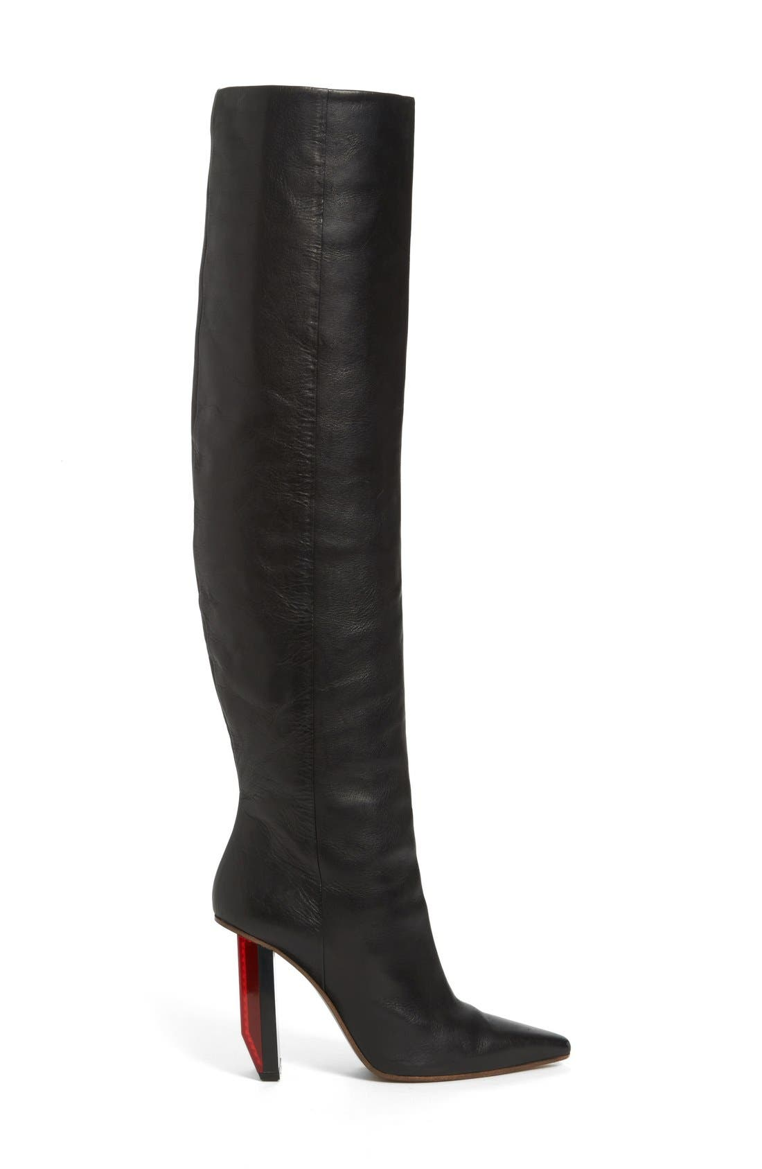 Alternate Image 4  - Vetements Reflector Heel Knee High Boot (Women)