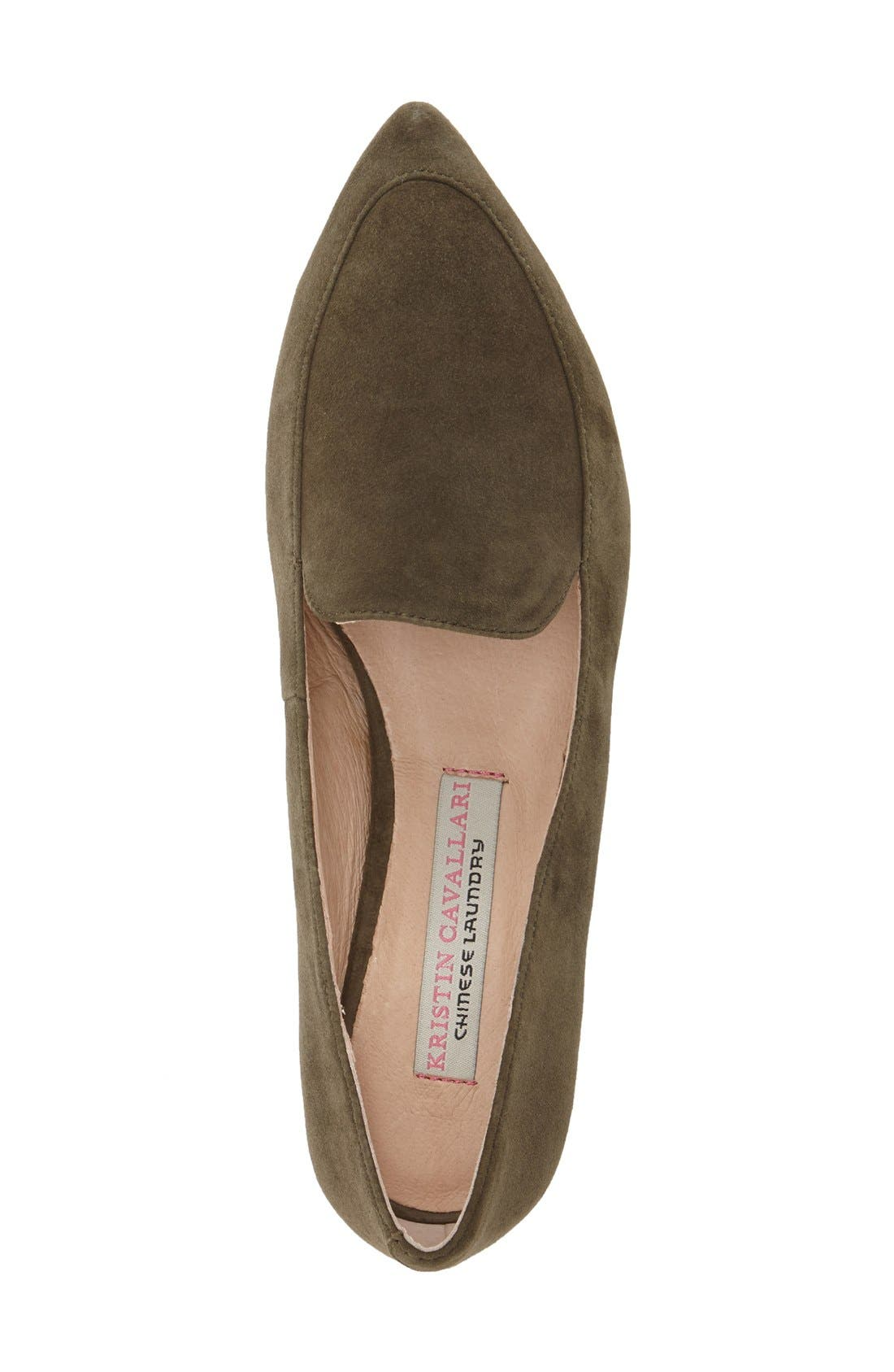 'Chandy' Loafer,                             Alternate thumbnail 3, color,                             Olive Suede