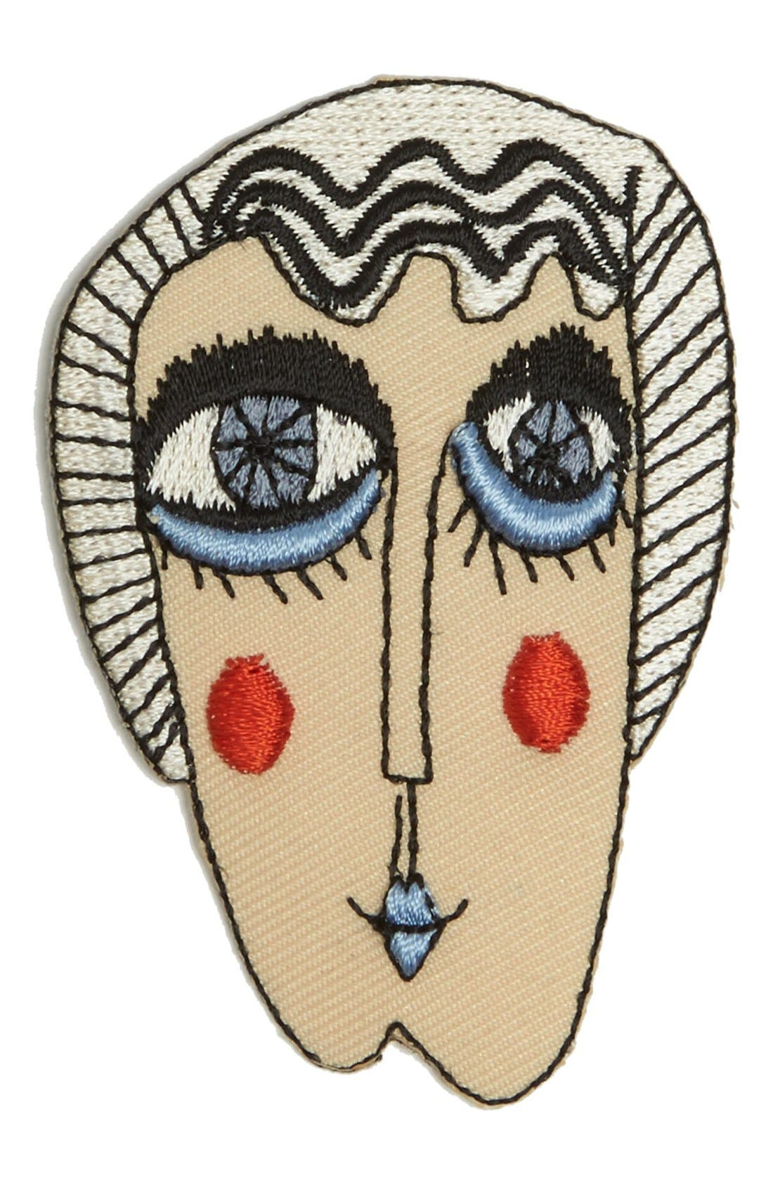 Main Image - Shrimps 'Jackie' Embroidered Fashion Accessory Patch