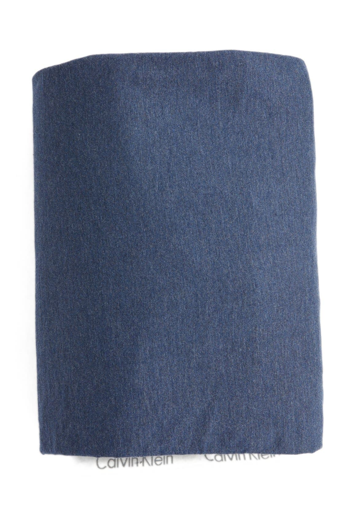 Alternate Image 1 Selected - Calvin Klein Home Modern Cotton Collection Cotton & Modal Fitted Sheet