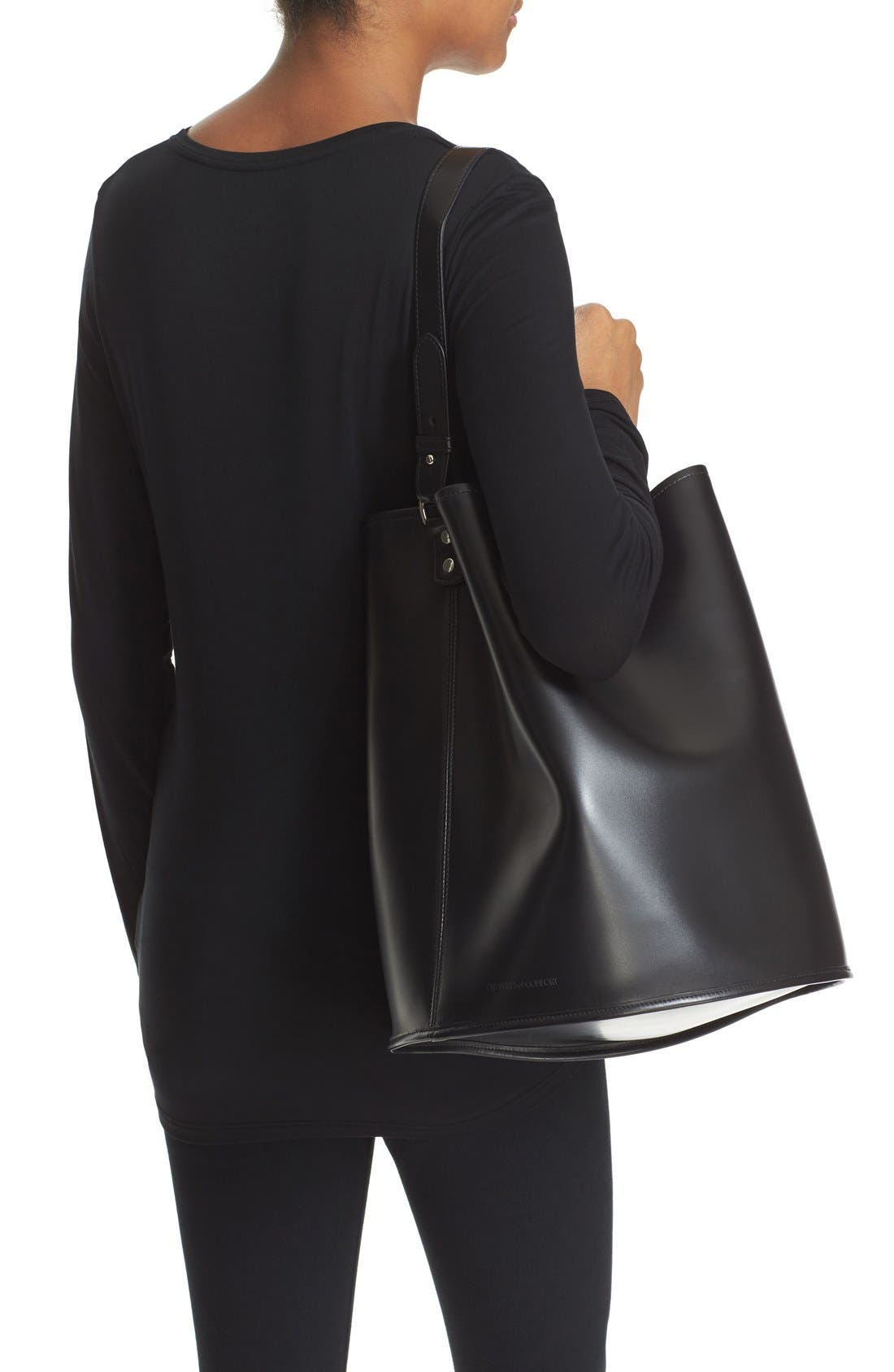 Alternate Image 2  - Creatures of Comfort Large Calfskin Leather Bucket Bag