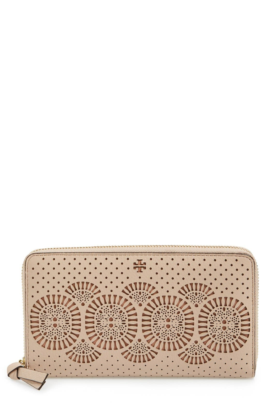 Alternate Image 1 Selected - Tory Burch 'Zoey' Zip Continental Wallet