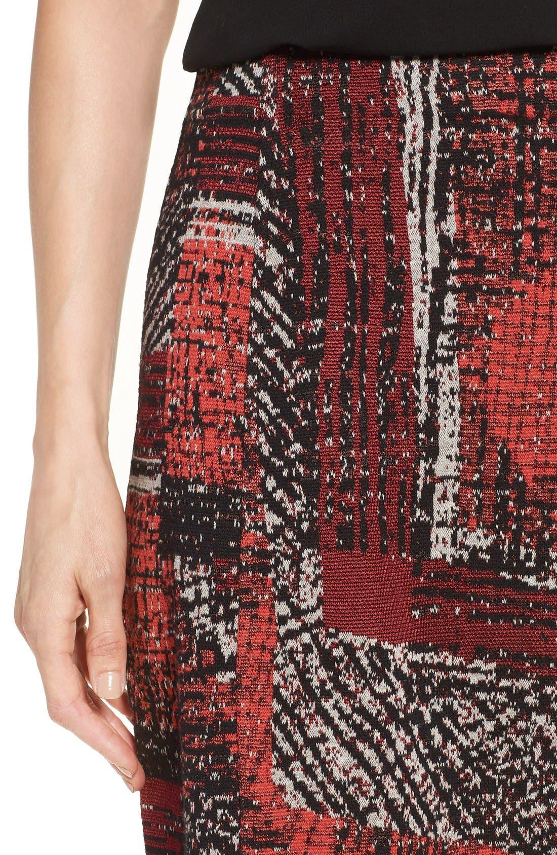 Alternate Image 4  - NIC+ZOE 'Making Marks' Print Knit Pencil Skirt (Regular & Petite)