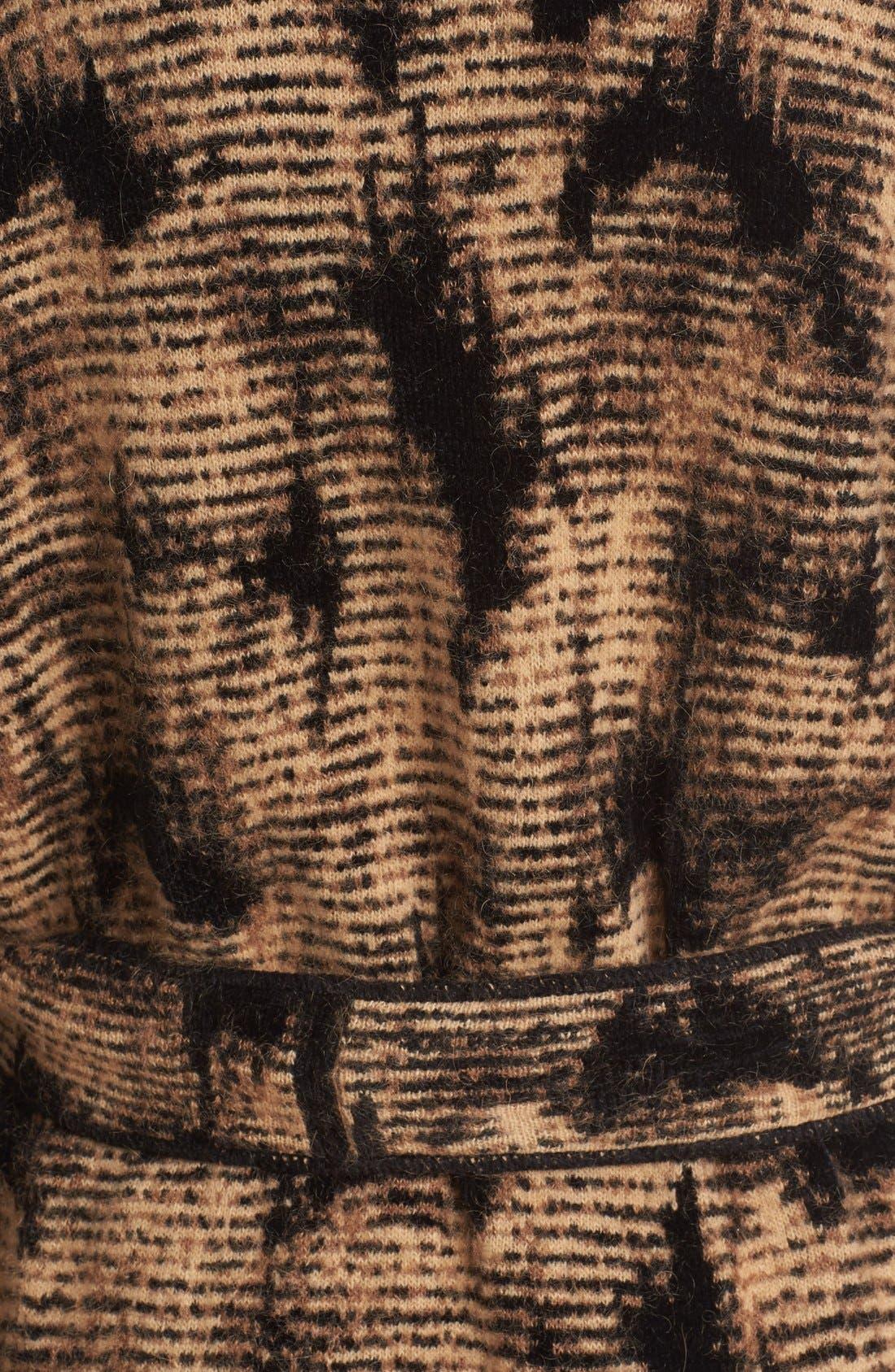 Alternate Image 3  - Fuzzi Jacquard Knit Coat