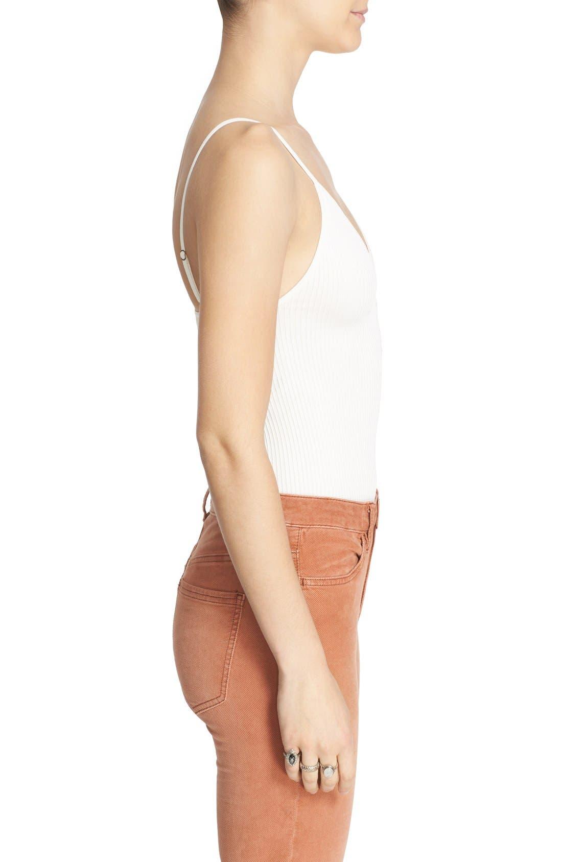 Alternate Image 3  - Free People Lace-Up Rib Knit Camisole