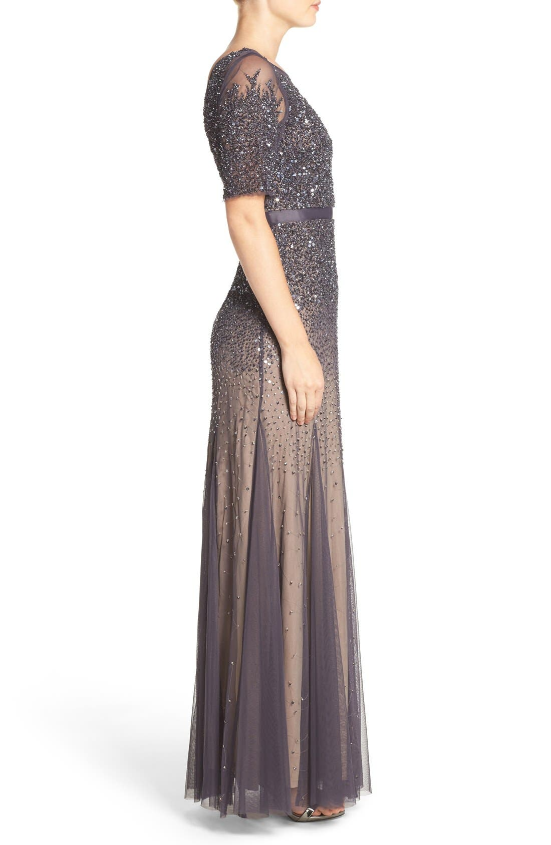 Alternate Image 3  - Adrianna Papell Embellished Mesh Mermaid Gown
