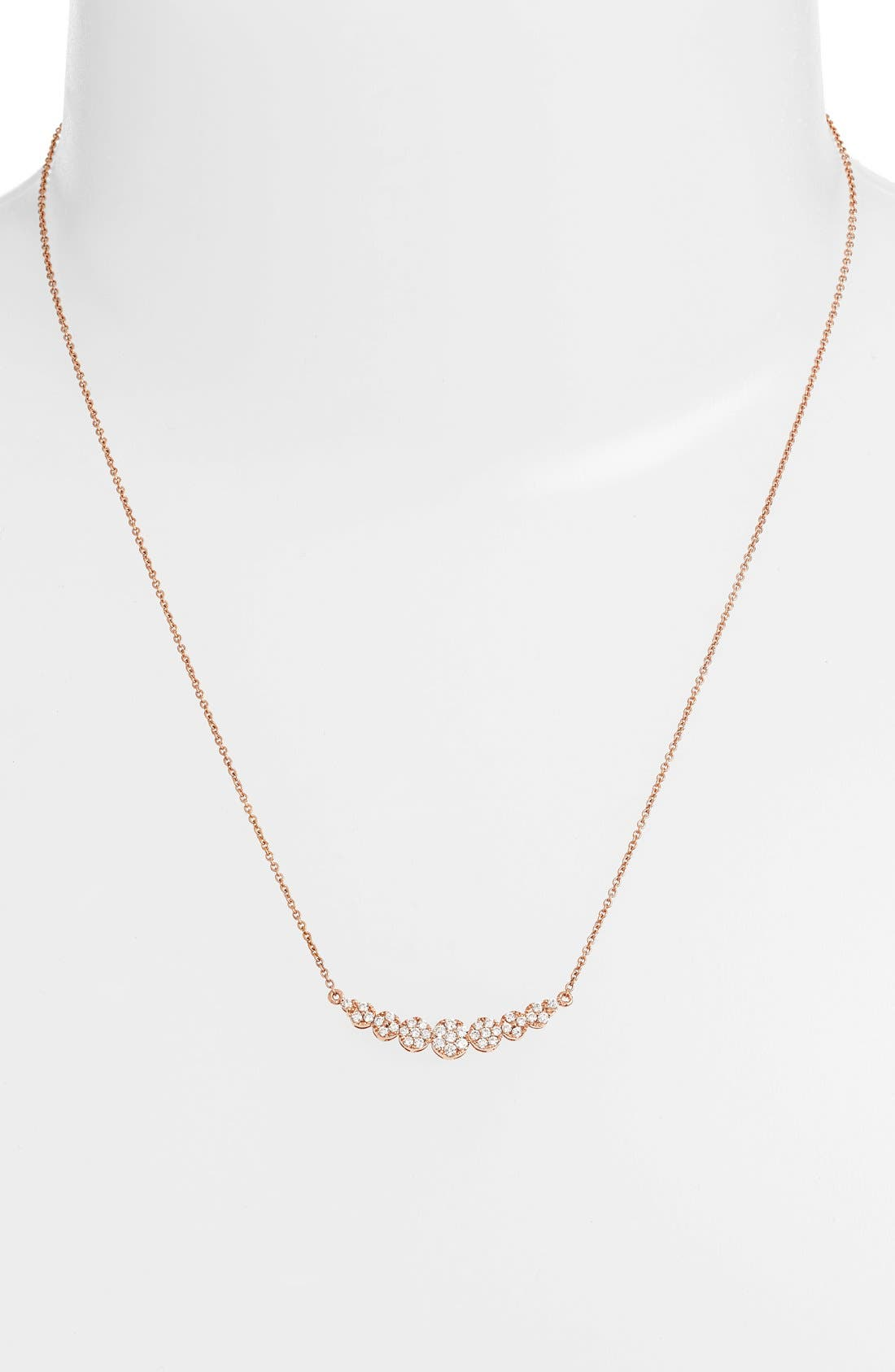'Liora' Diamond Pendant Necklace,                             Alternate thumbnail 2, color,                             Rose Gold