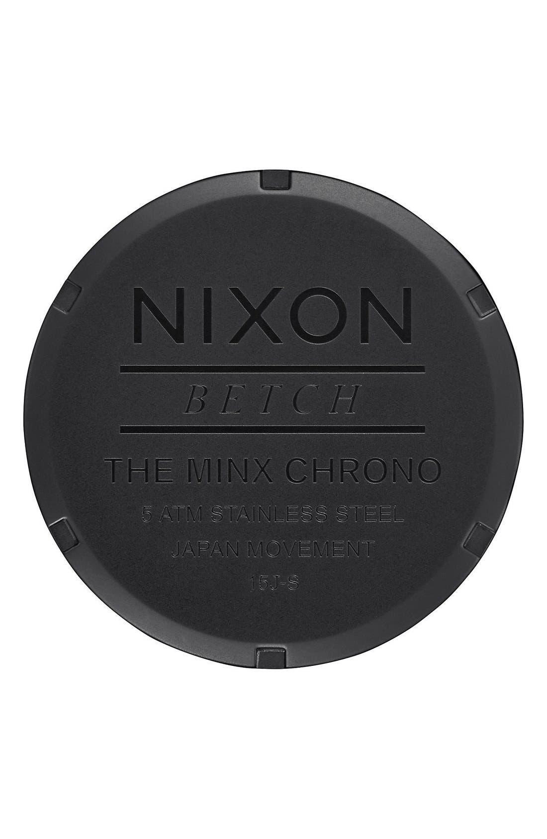 Alternate Image 4  - Nixon 'Minx' Chronograph Bracelet Watch, 39mm