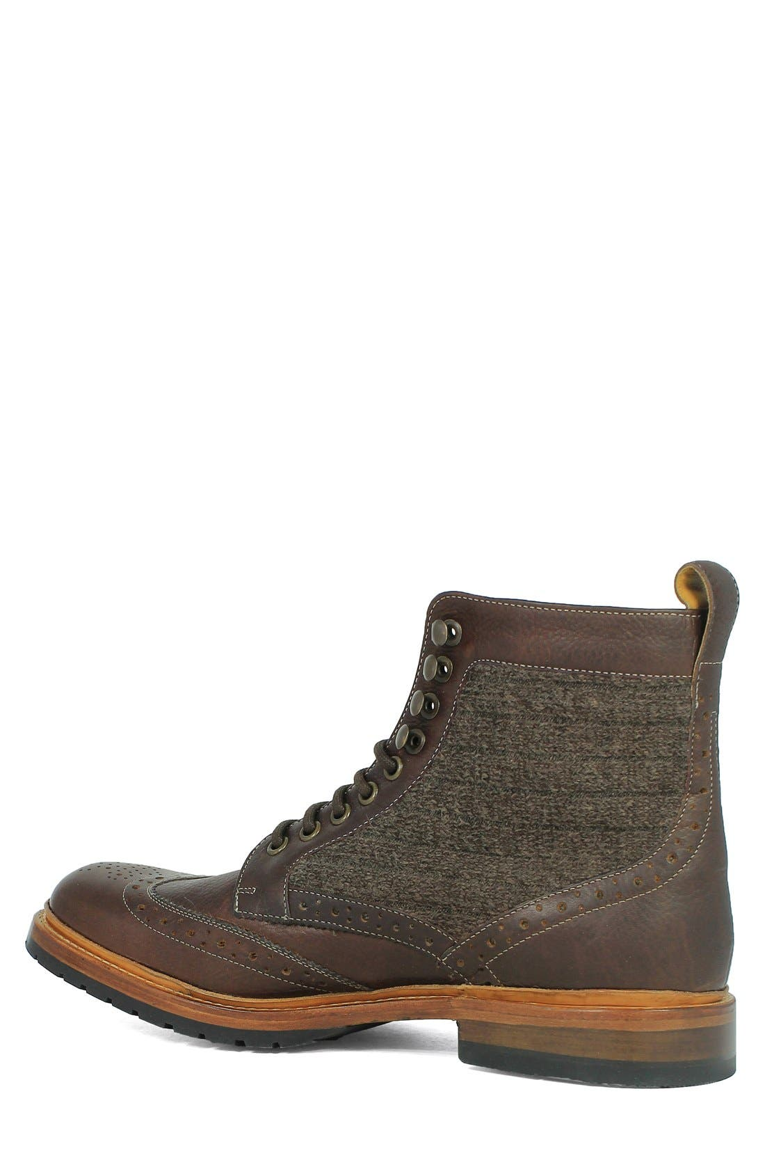 Madison II Wingtip Boot,                             Alternate thumbnail 2, color,                             Brown Multi