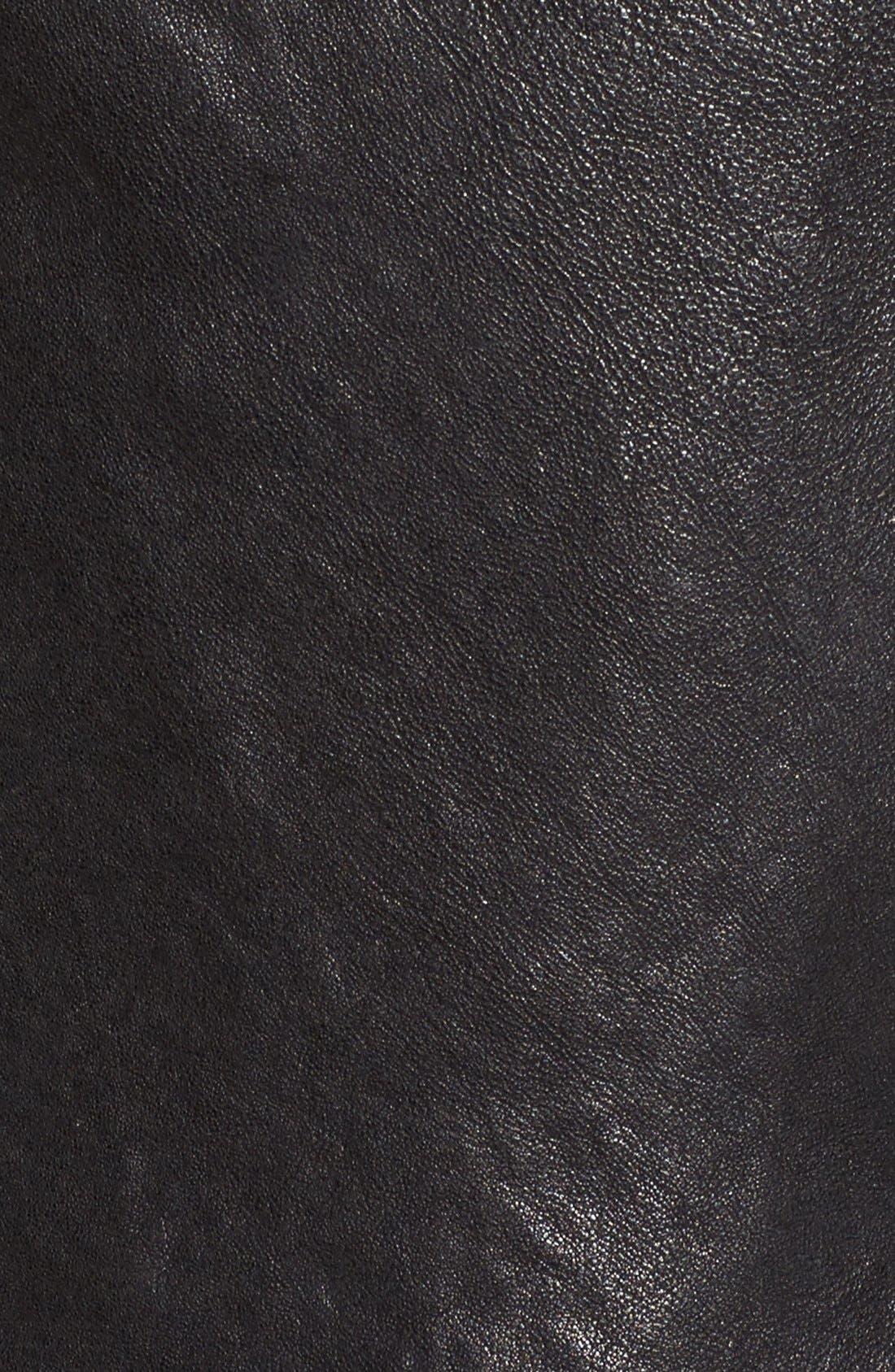 Alternate Image 5  - LAMARQUE Funnel Neck Moto Jacket