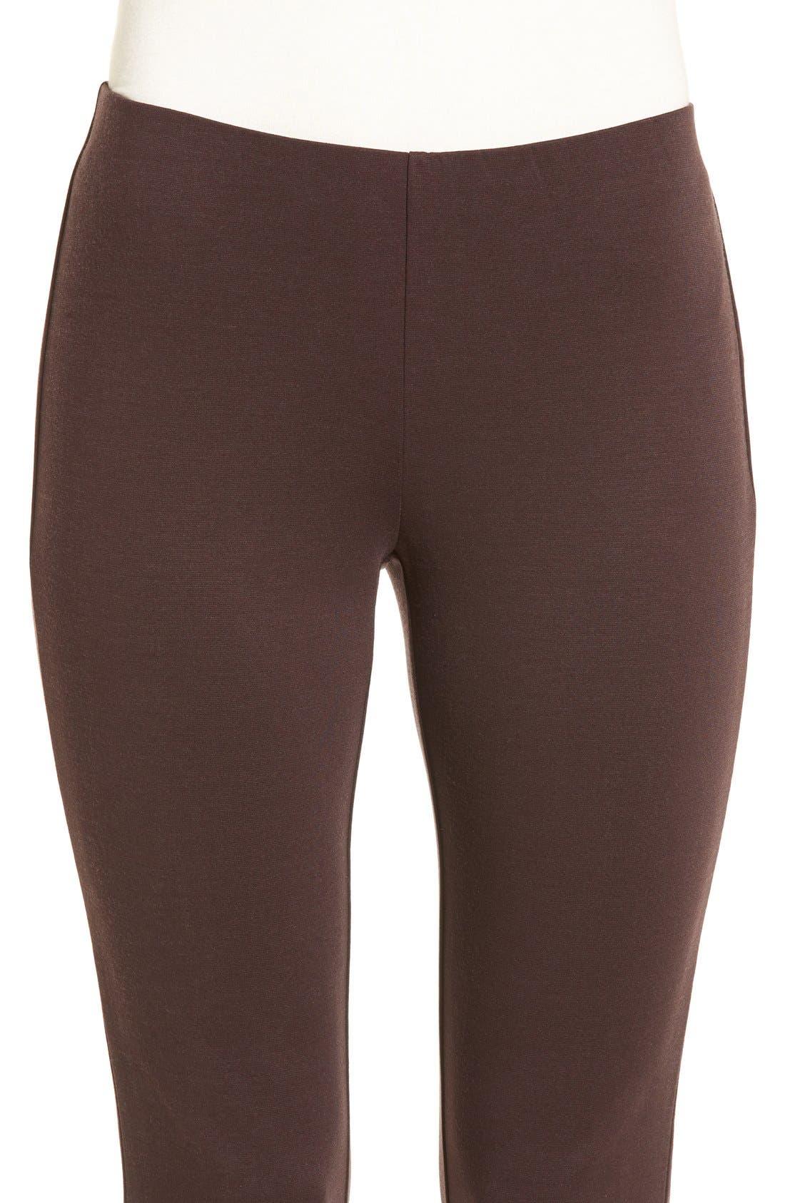 Alternate Image 4  - Eileen Fisher Tencel® Blend Ponte Slim Leg Pants