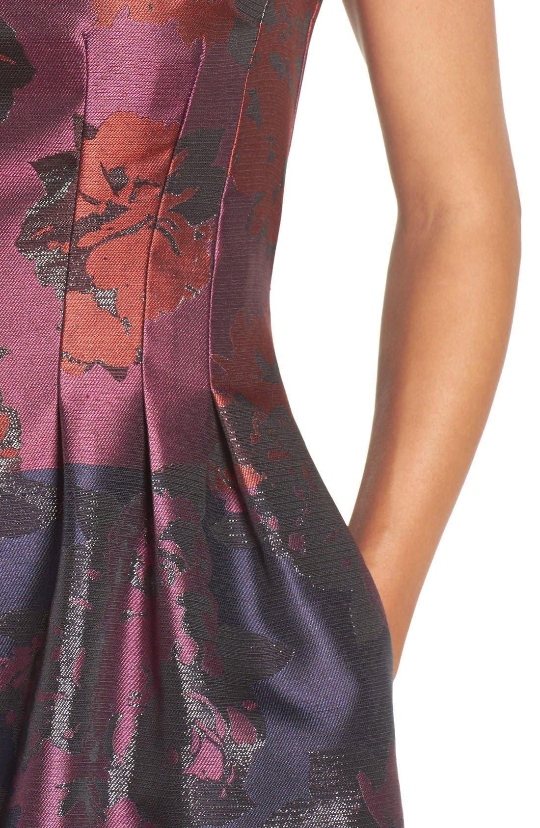 Alternate Image 4  - Vince Camuto Jacquard Fit & Flare Dress (Regular & Petite)