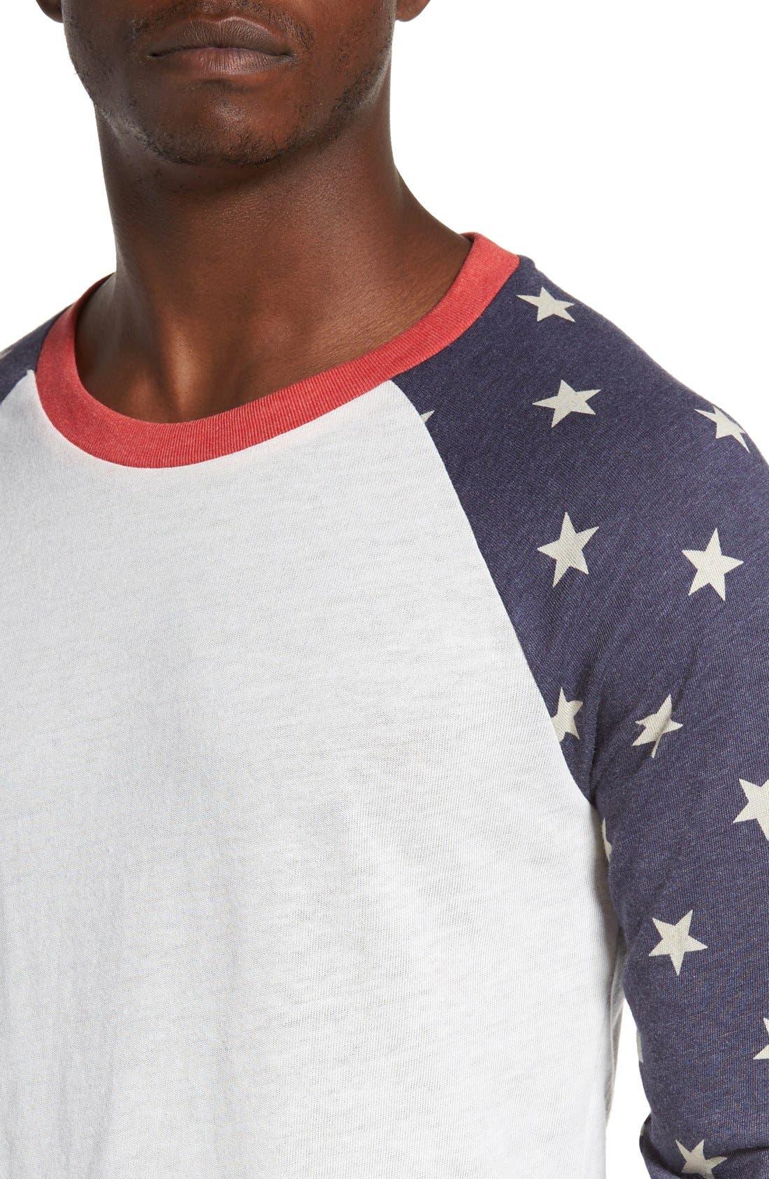 Print Baseball T-Shirt,                             Alternate thumbnail 4, color,                             Stars