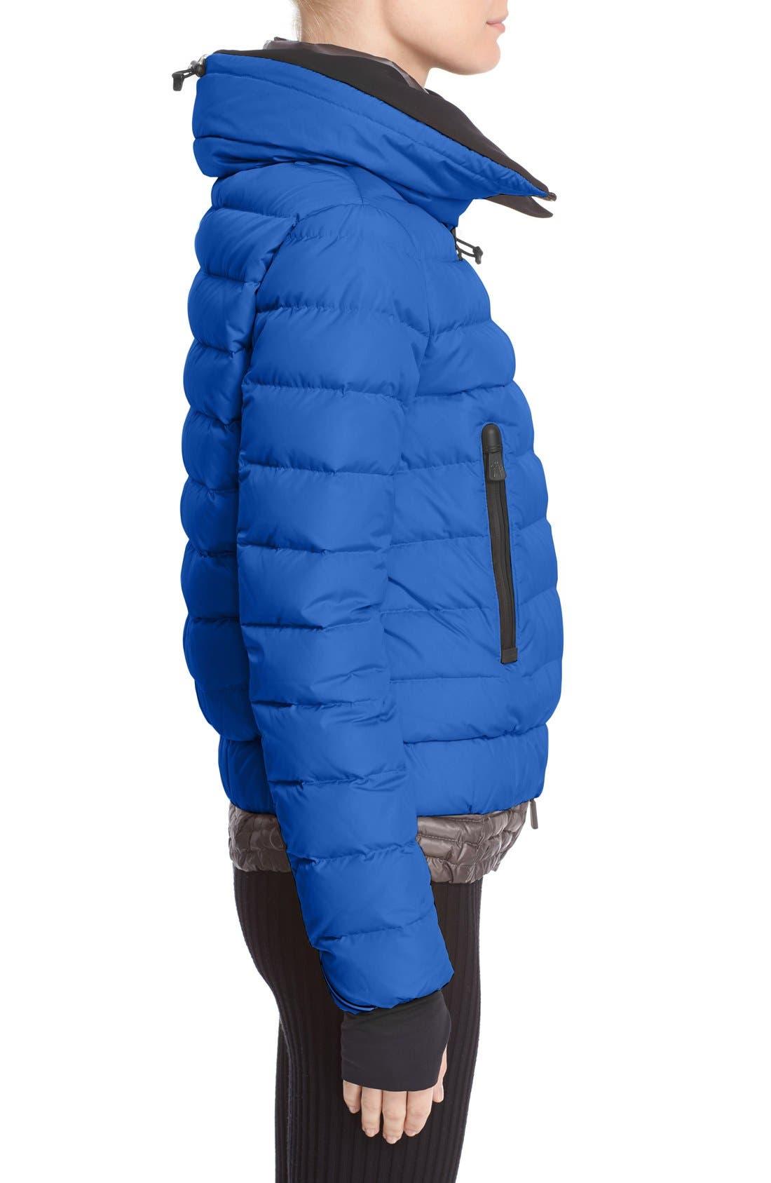'Vonne' Nylon Down Puffer Jacket,                             Alternate thumbnail 4, color,                             Blue