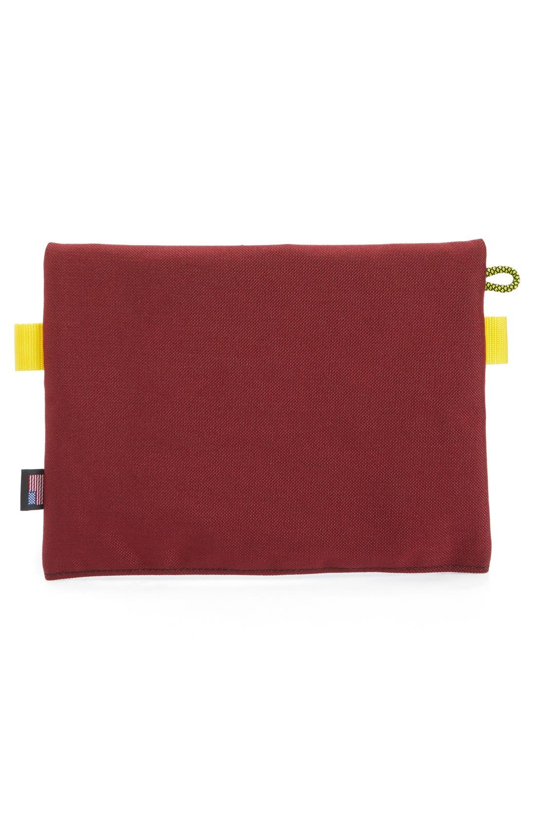 Topo Designs Accessory Bag,                             Alternate thumbnail 3, color,                             Burgundy/ Turquoise