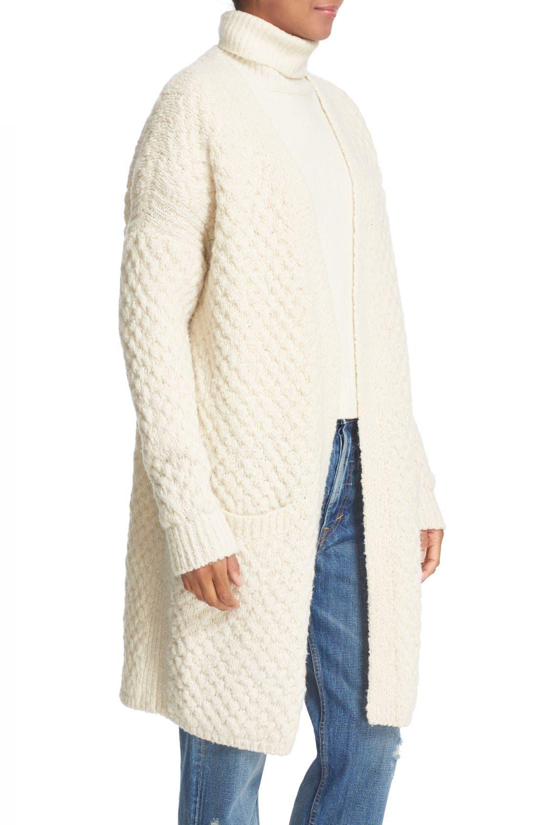 Alternate Image 3  - Vince Honeycomb Wool Blend Long Cardigan