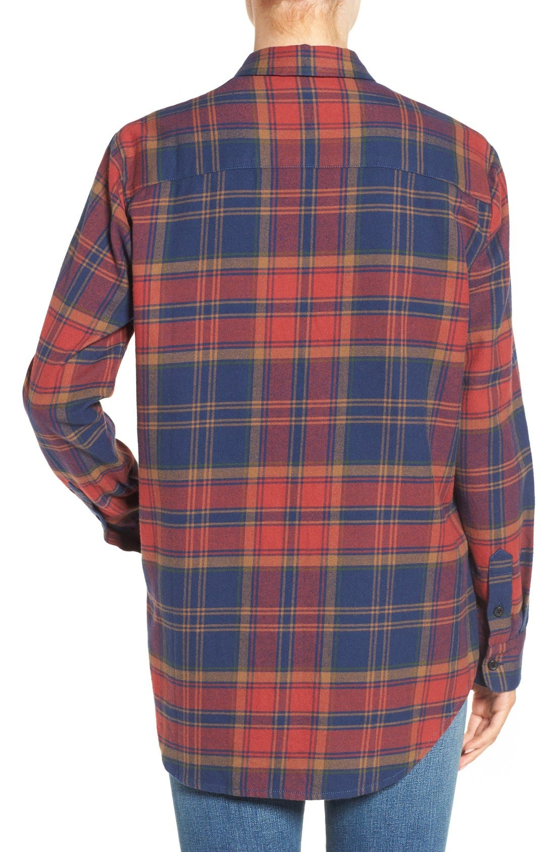 Alternate Image 2  - Madewell Ex-Boyfriend Shrunken Flannel Boyfriend Shirt