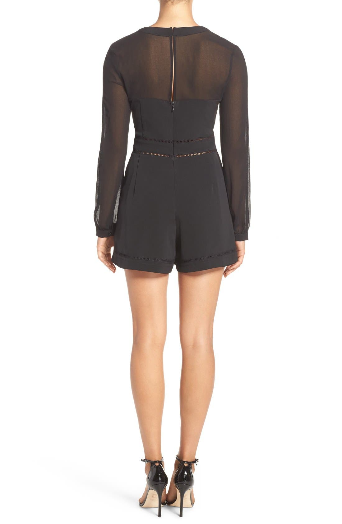 Alternate Image 2  - Adelyn Rae Long Sleeve Romper