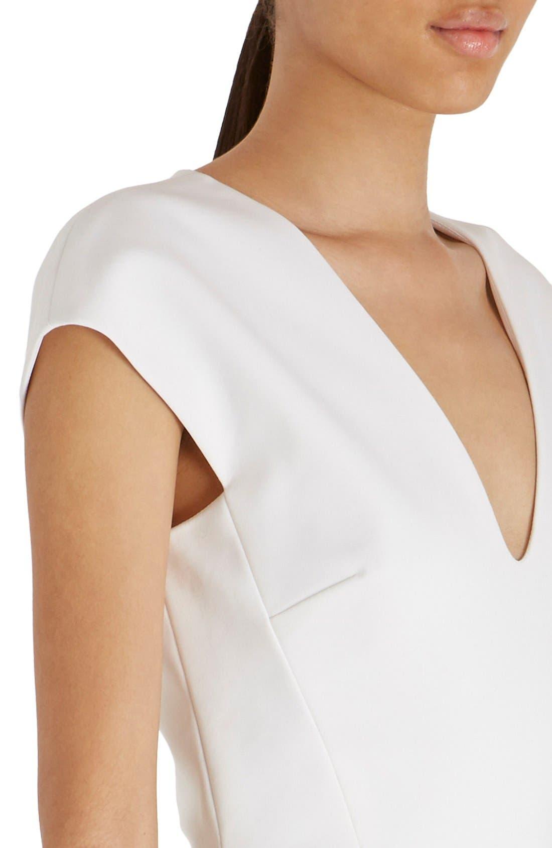 Alternate Image 5  - Victoria Beckham Cap Sleeve Cotton Blend Sheath Dress