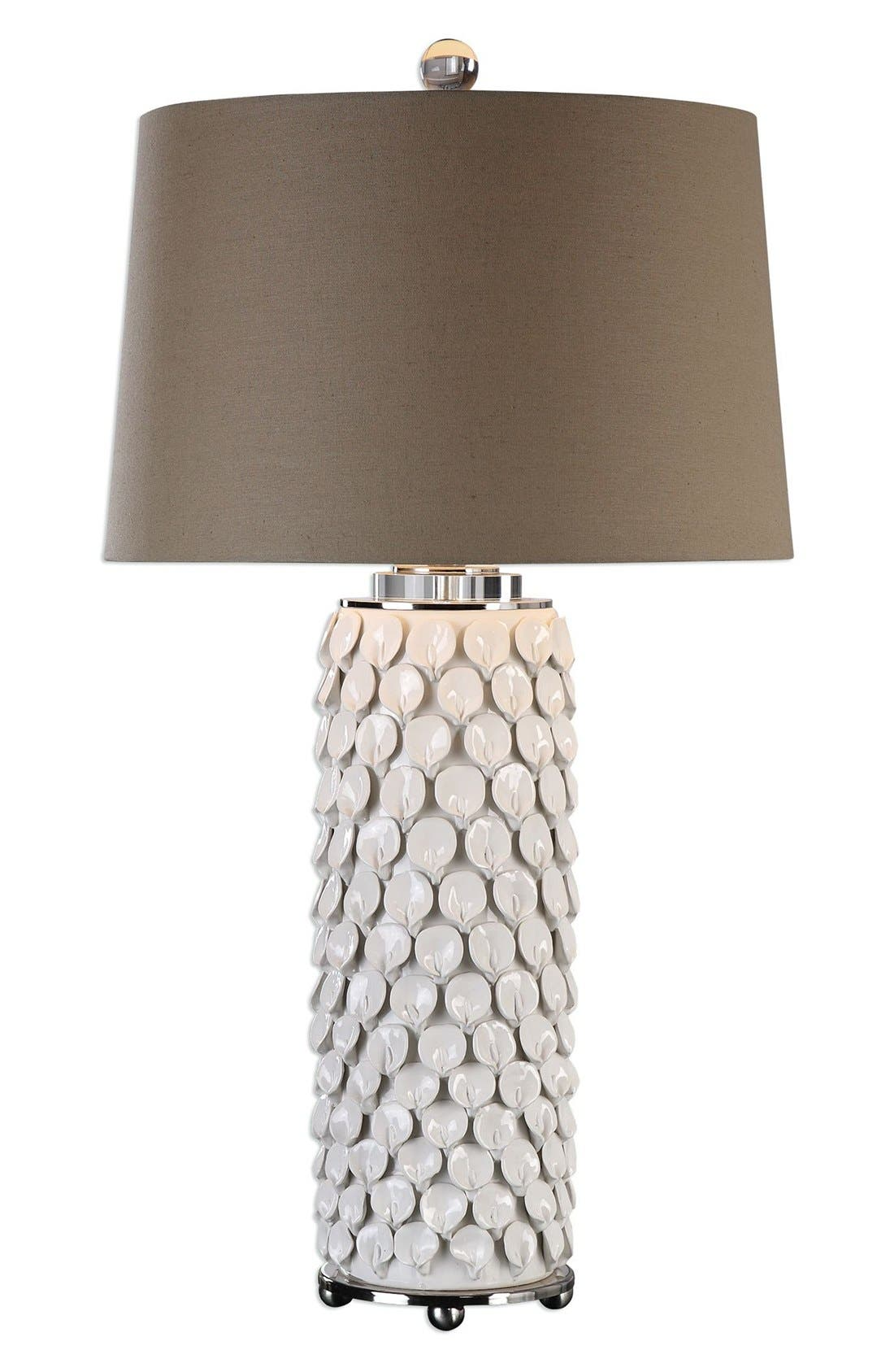 Uttermost 'Lily' Glossy Ceramic Table Lamp