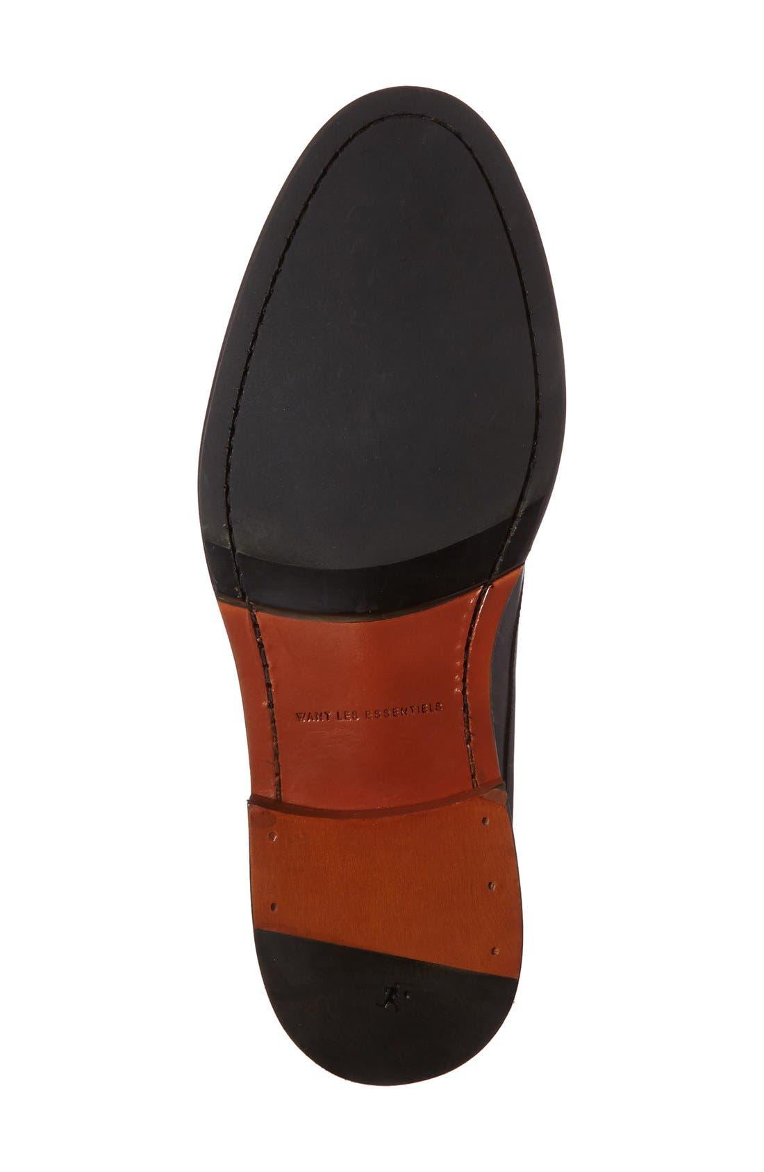 'Benson' Plain Toe Derby,                             Alternate thumbnail 4, color,                             Box Black Leather