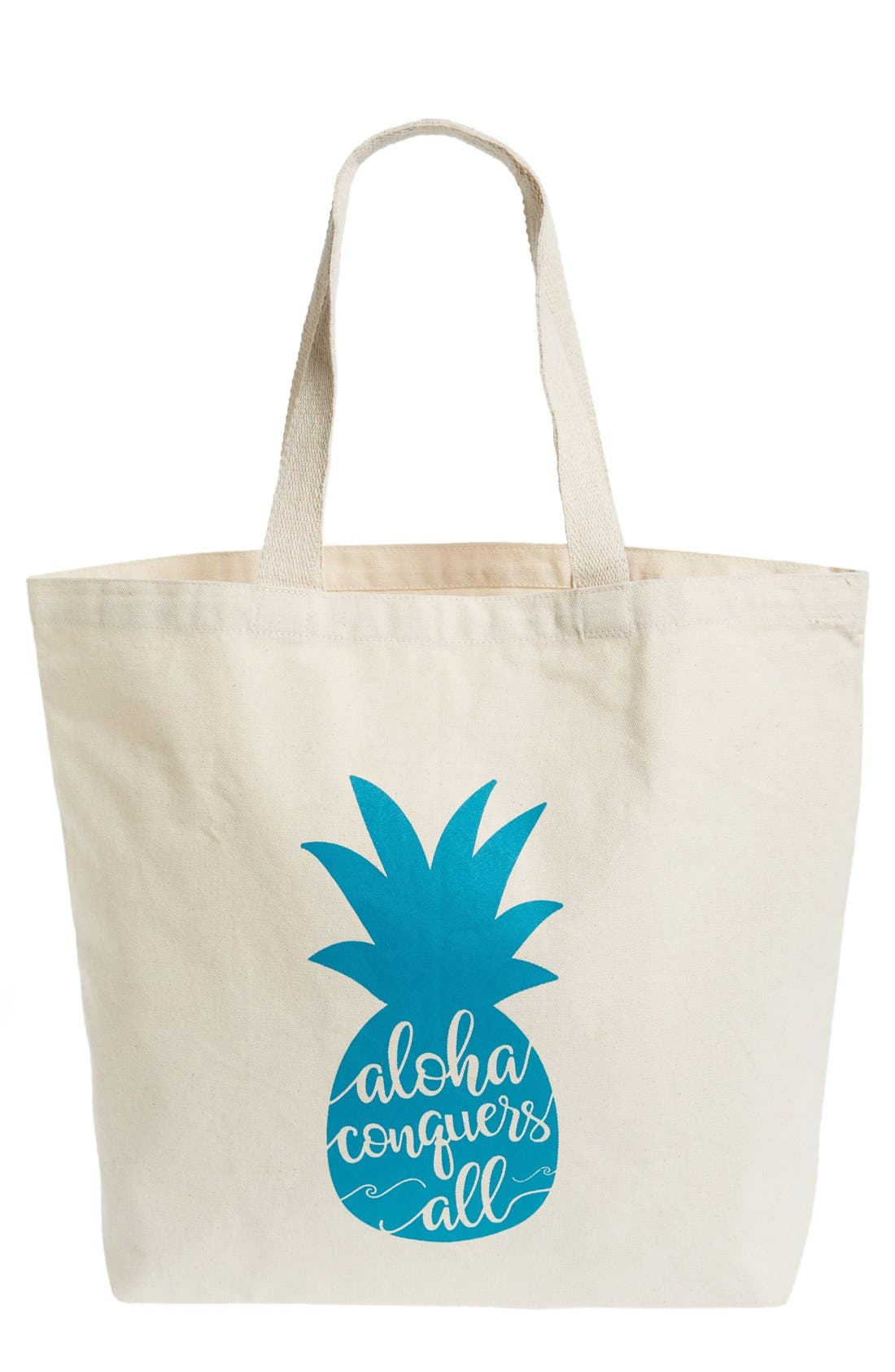 Main Image - WORKSHOP 28 'Aloha Conquers All' Canvas Tote