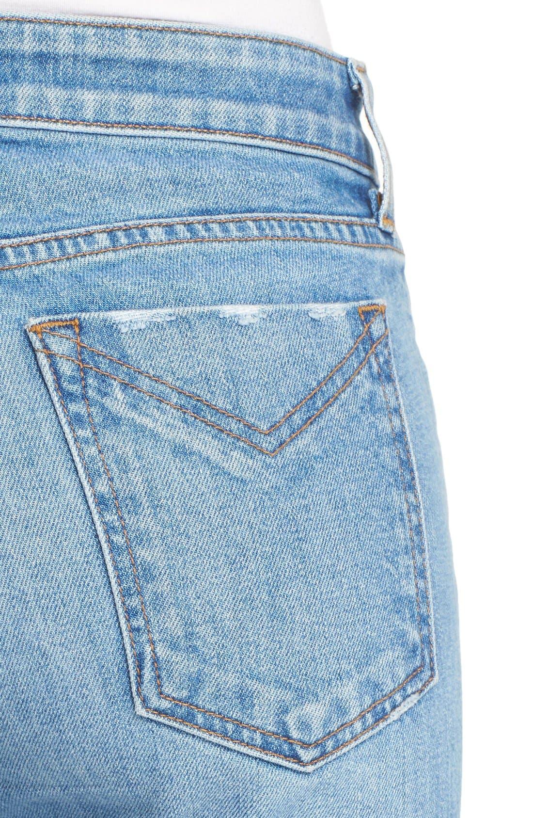 Alternate Image 4  - Derek Lam 10 Crosby 'Gia' Crop Flare Jeans (Light Wash)