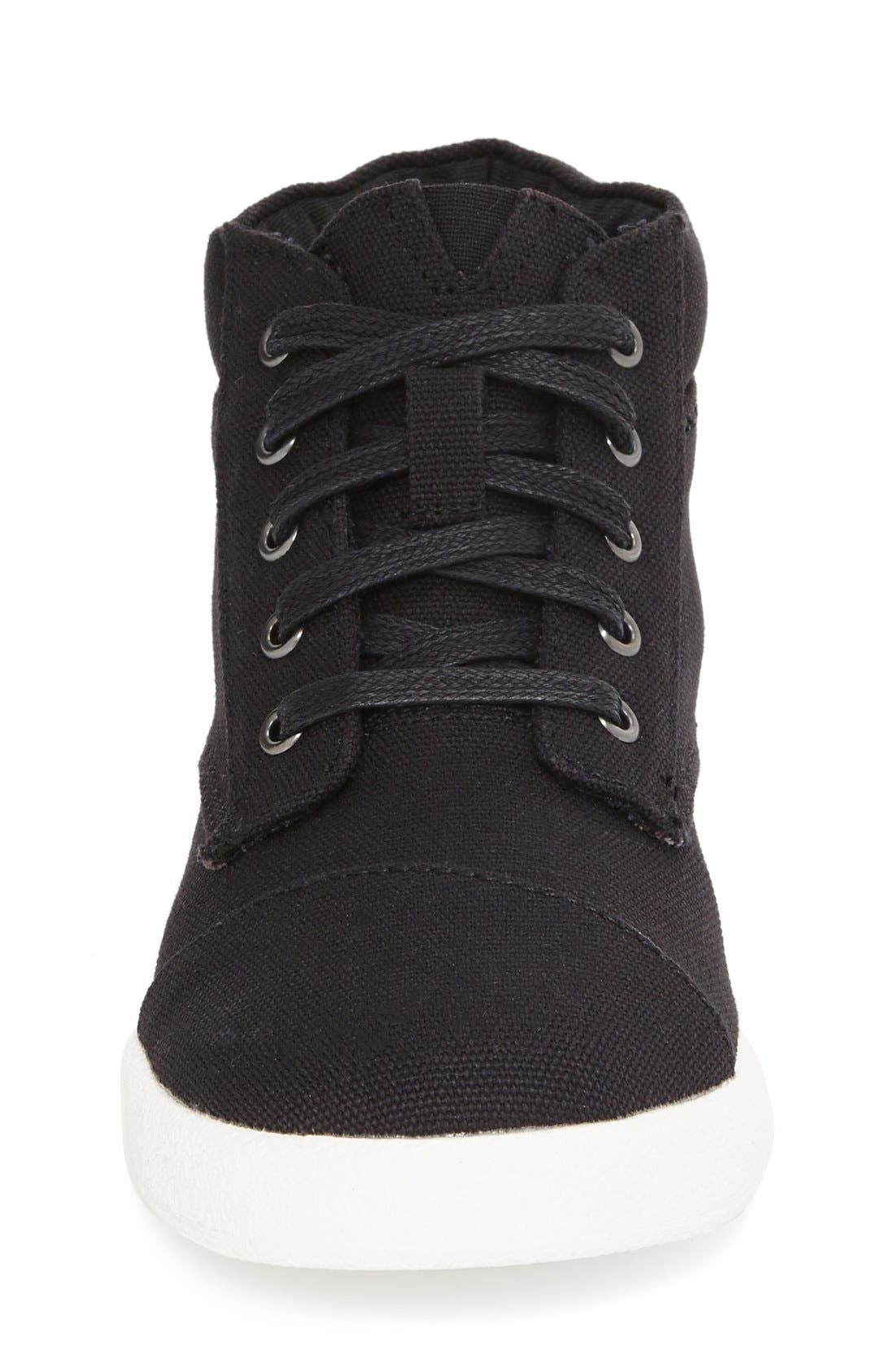 Alternate Image 3  - TOMS 'Paseo' High Top Sneaker (Toddler, Little Kid & Big Kid)